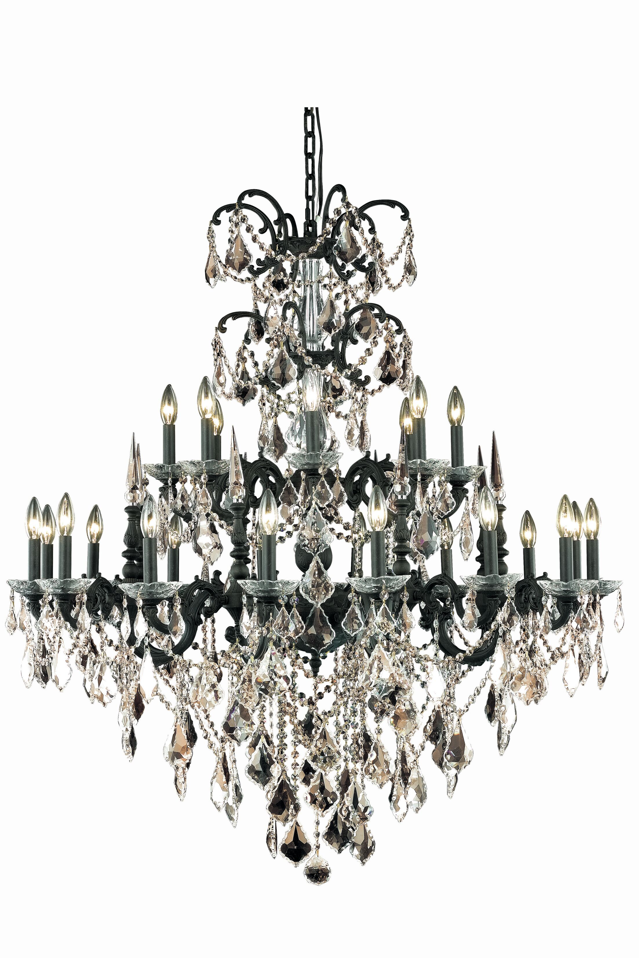 Cherie 24-Light Candle Style Chandelier Crystal Color / Crystal Trim: Crystal (Clear) / Royal Cut