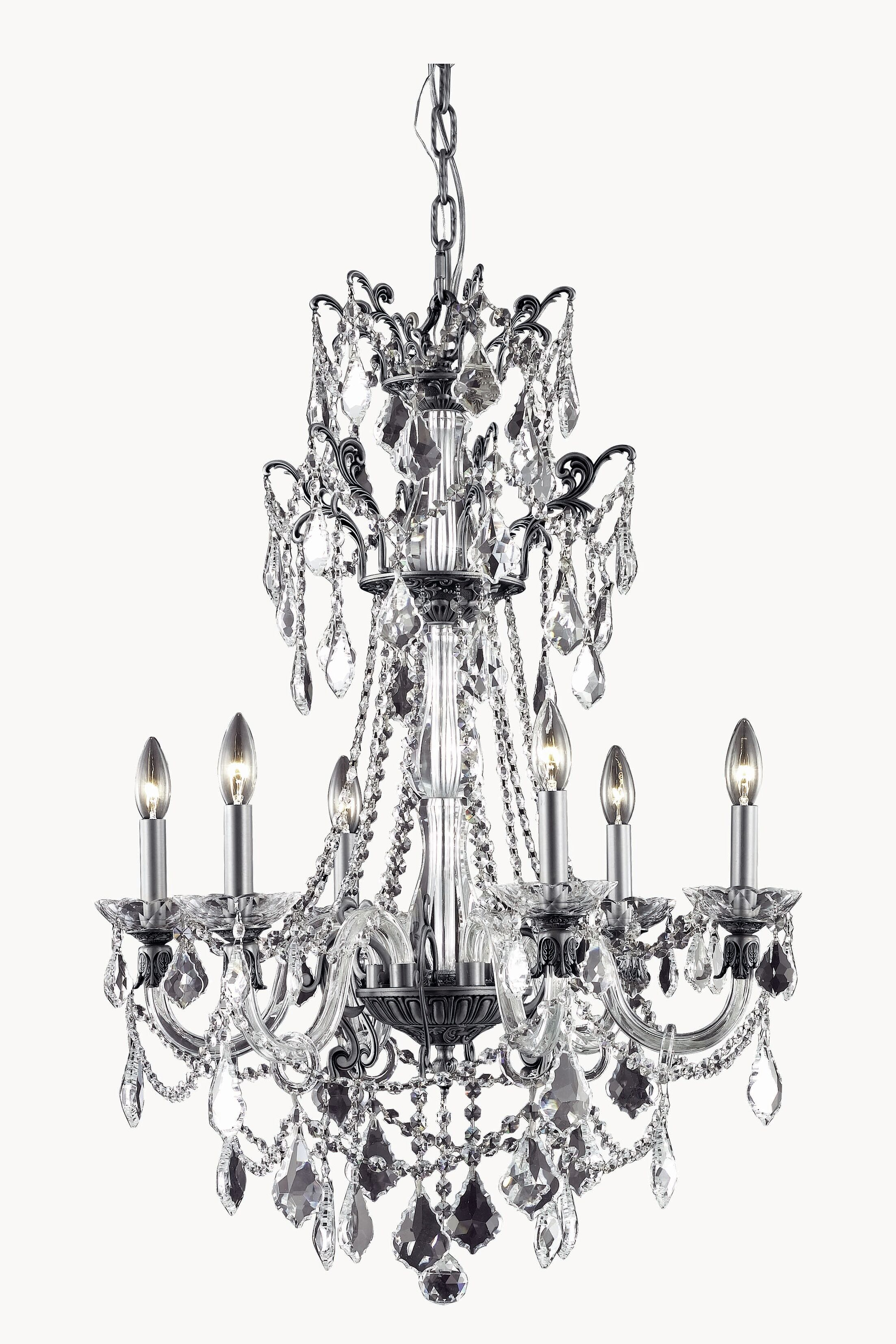 Johnsie 6-Light Candle Style Chandelier Finish: Dark Bronze