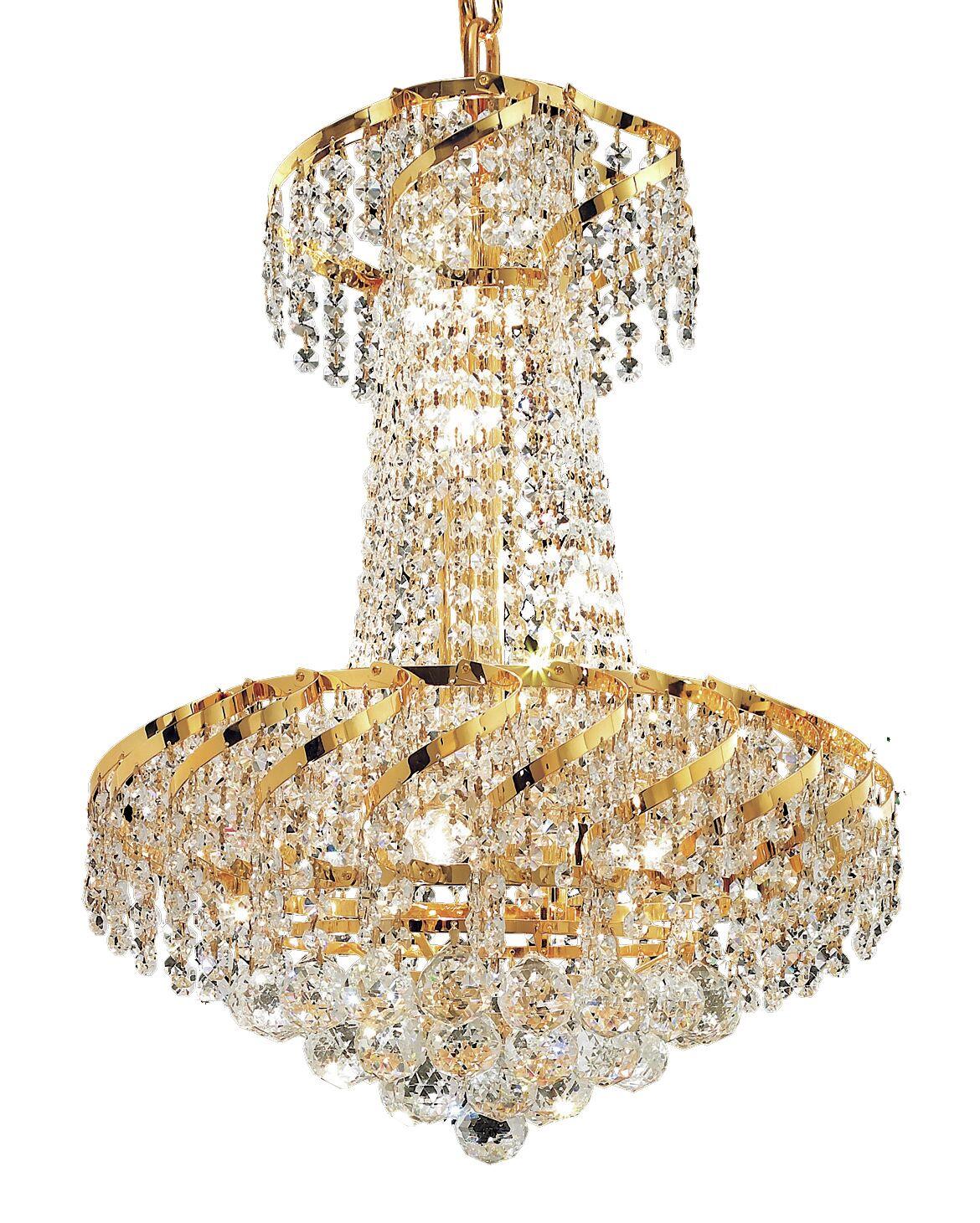 Antione 6-Light Empire Chandelier Finish: Gold, Crystal: Elegant Cut
