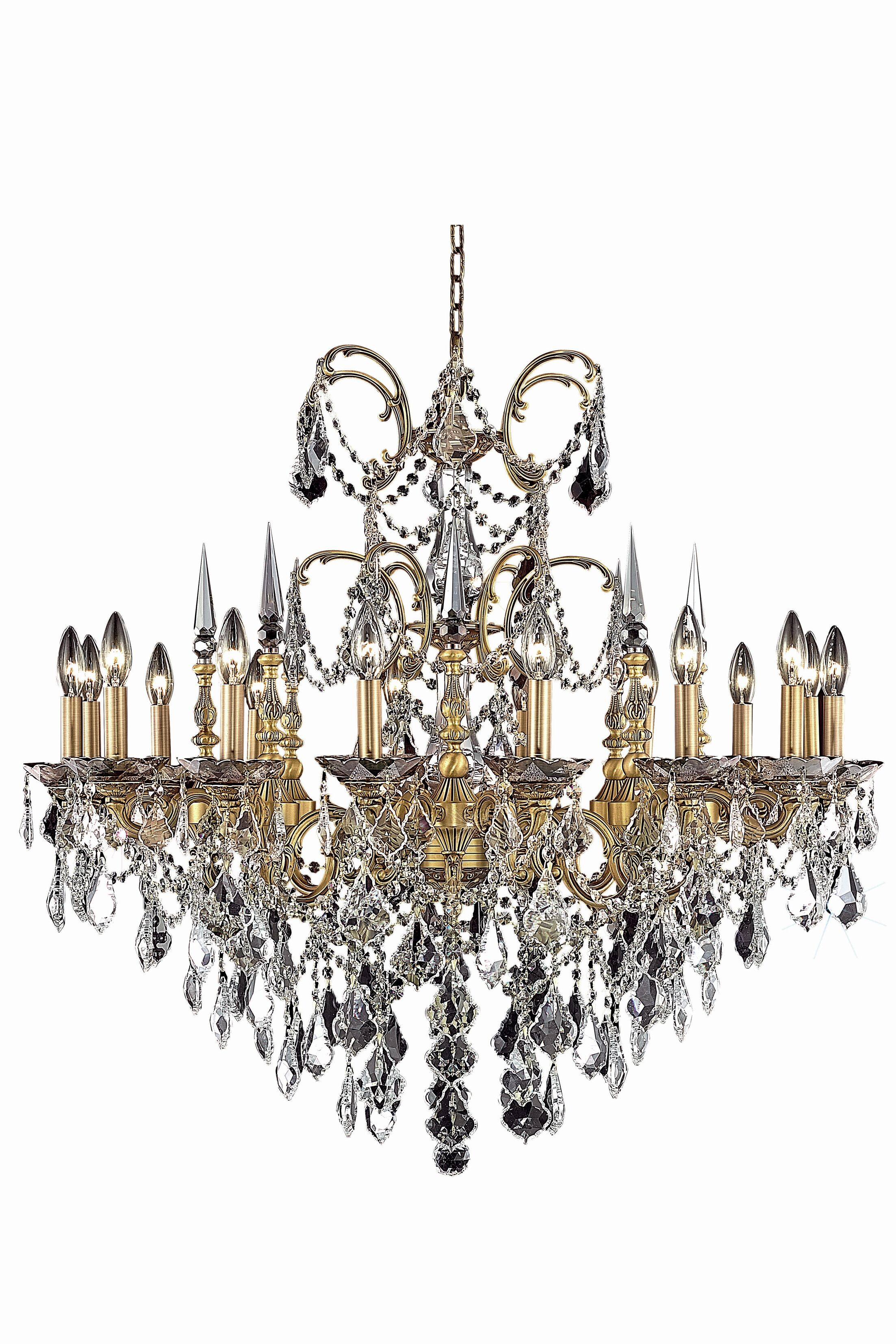Cherie 16-Light Candle Style Chandelier Finish / Crystal Finish / Crystal Trim: Pewter / Crystal (Clear) / Strass Swarovski