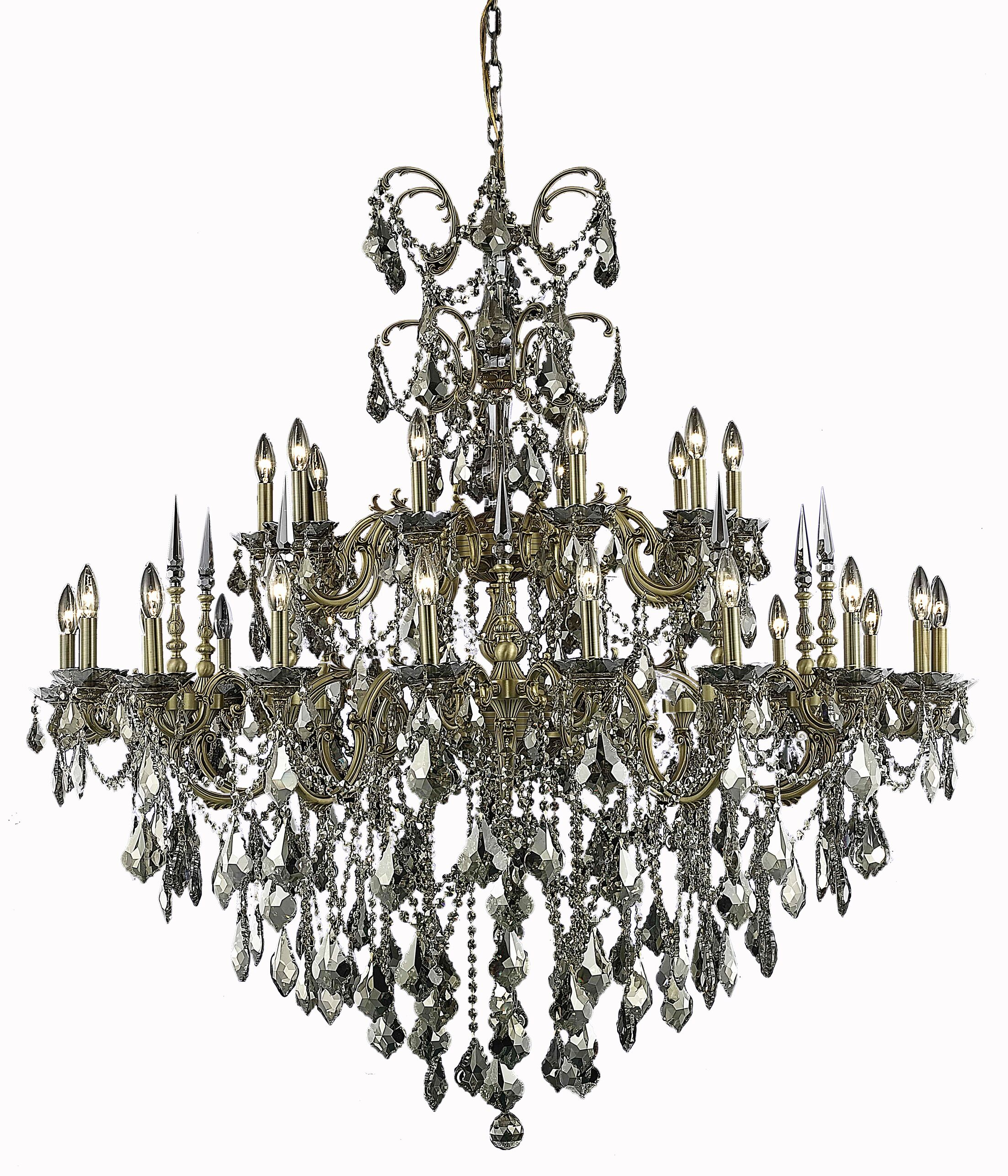 Cherie 30-Light Candle Style Chandelier Finish / Crystal Finish / Crystal Trim: French Gold / Crystal (Clear) / Royal Cut