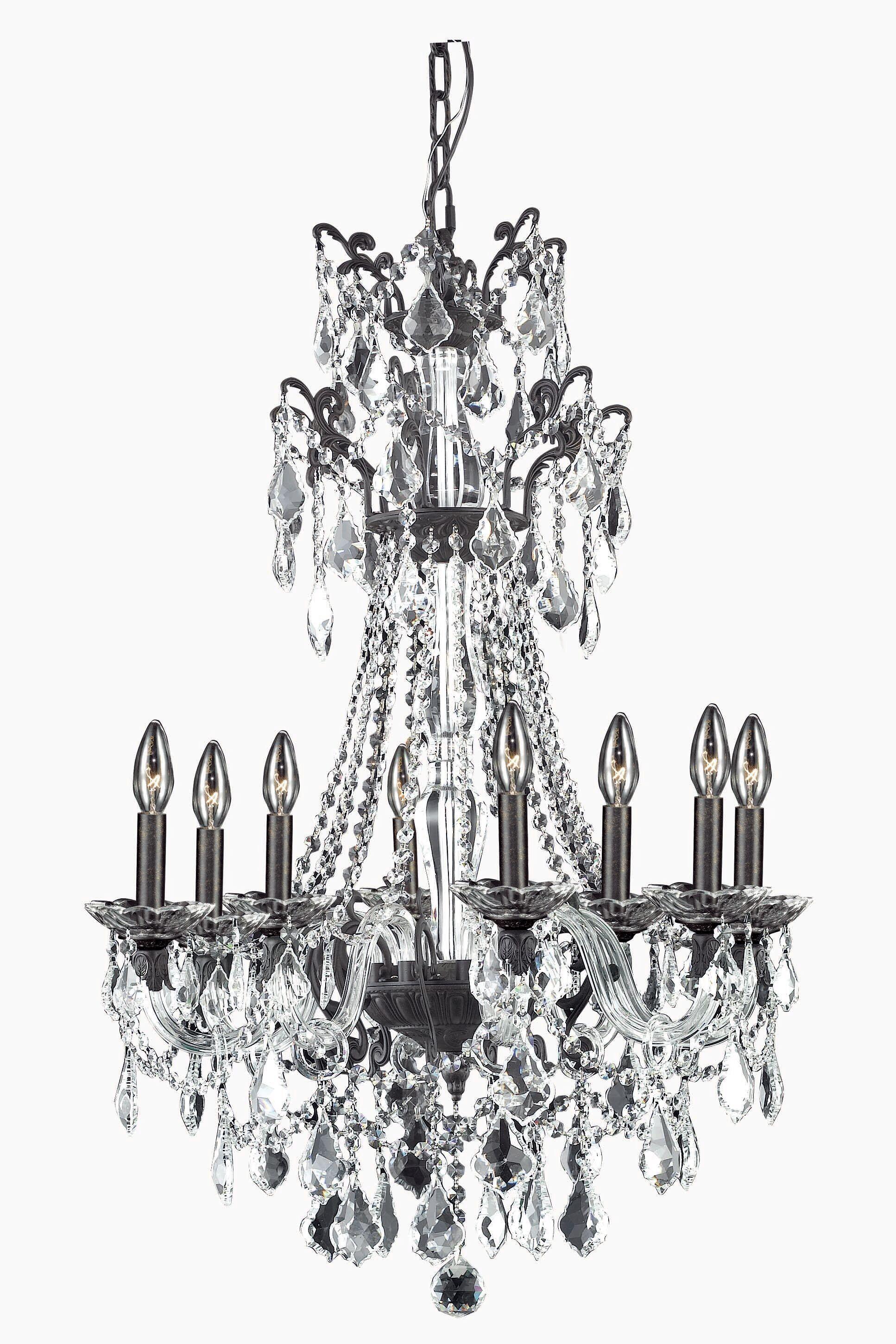 Johnsie 8-Light Candle Style Chandelier Finish: Dark Bronze