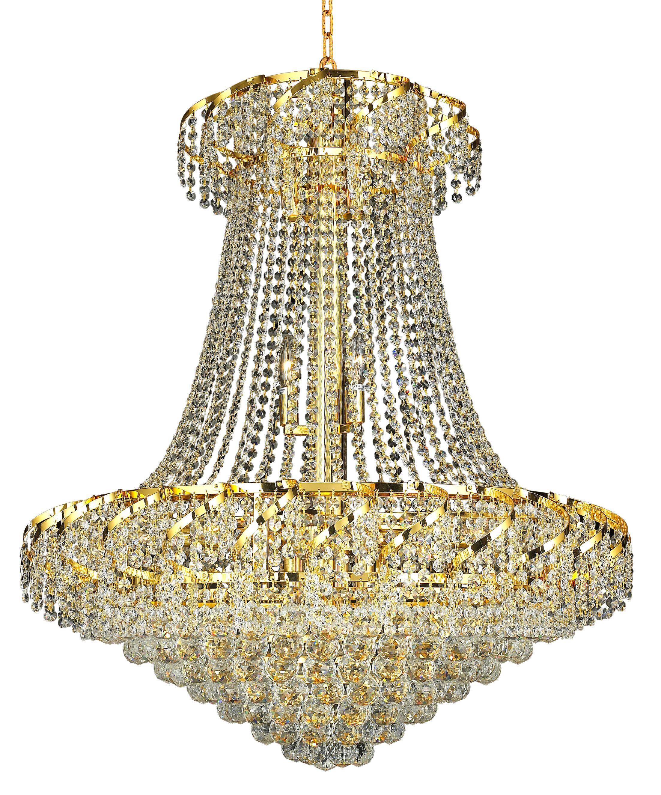 Antione 18-Light Chandelier Finish: Chrome, Crystal Grade: Spectra Swarovski