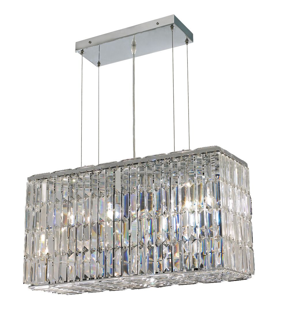 Langer 8-Light Kitchen Island Pendant Finish: Chrome, Crystal: Swarovski Spectra