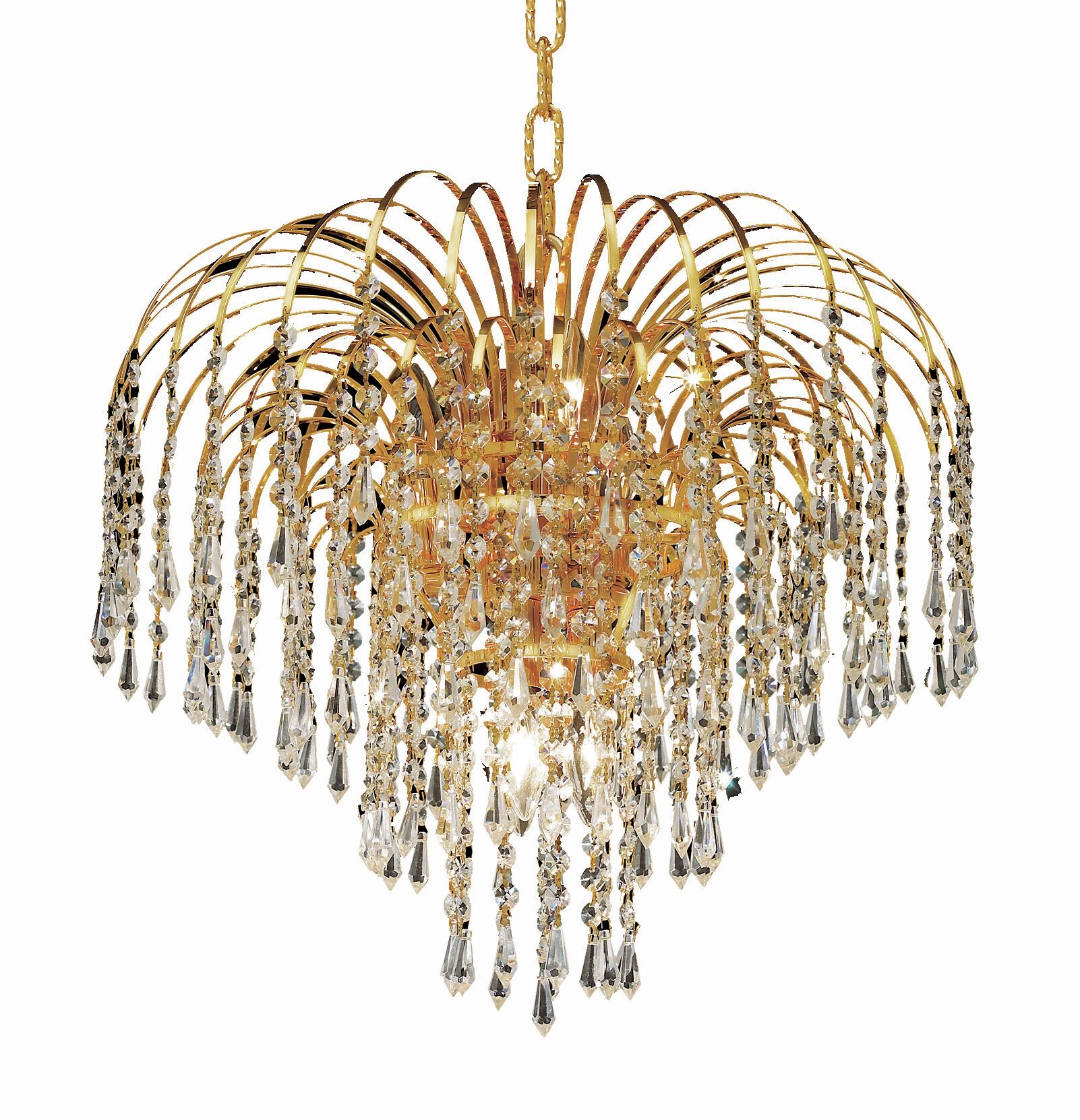 Westrem 6-Light Crystal Chandelier Finish: Gold, Crystal Grade: Swarovski Strass