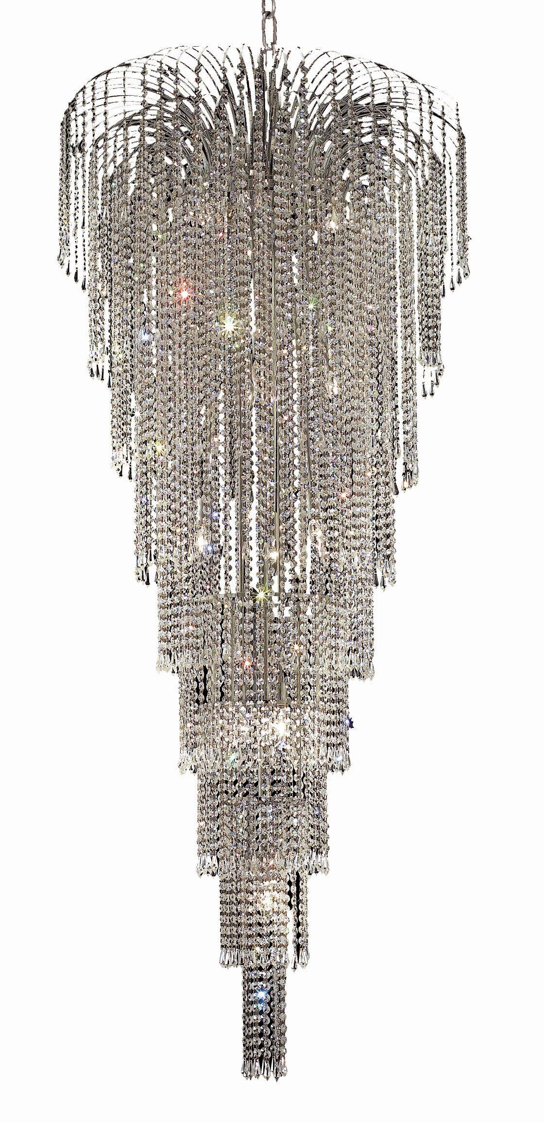Westrem 15-Light Crystal Chandelier Finish: Chrome, Crystal Grade: Swarovski Spectra
