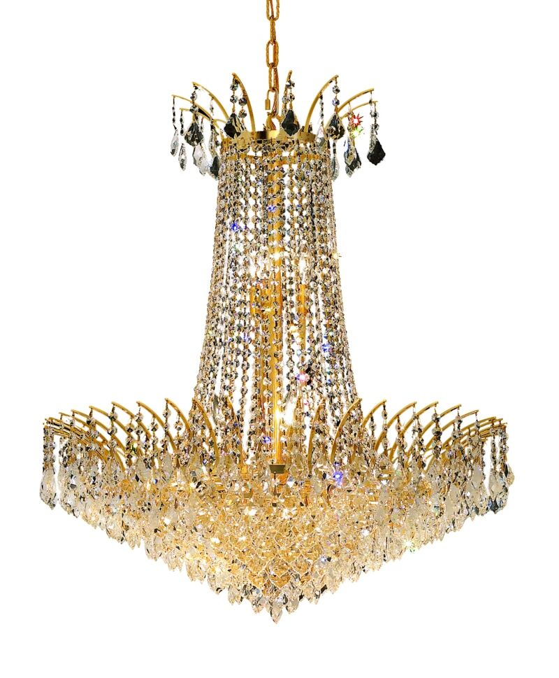 Phyllida 16-Light Chandelier Finish: Gold, Crystal Trim: Spectra Swarovski