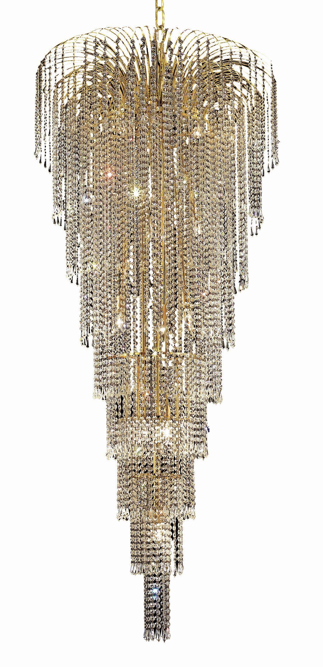 Westrem 15-Light Crystal Chandelier Finish: Gold, Crystal Grade: Swarovski Strass