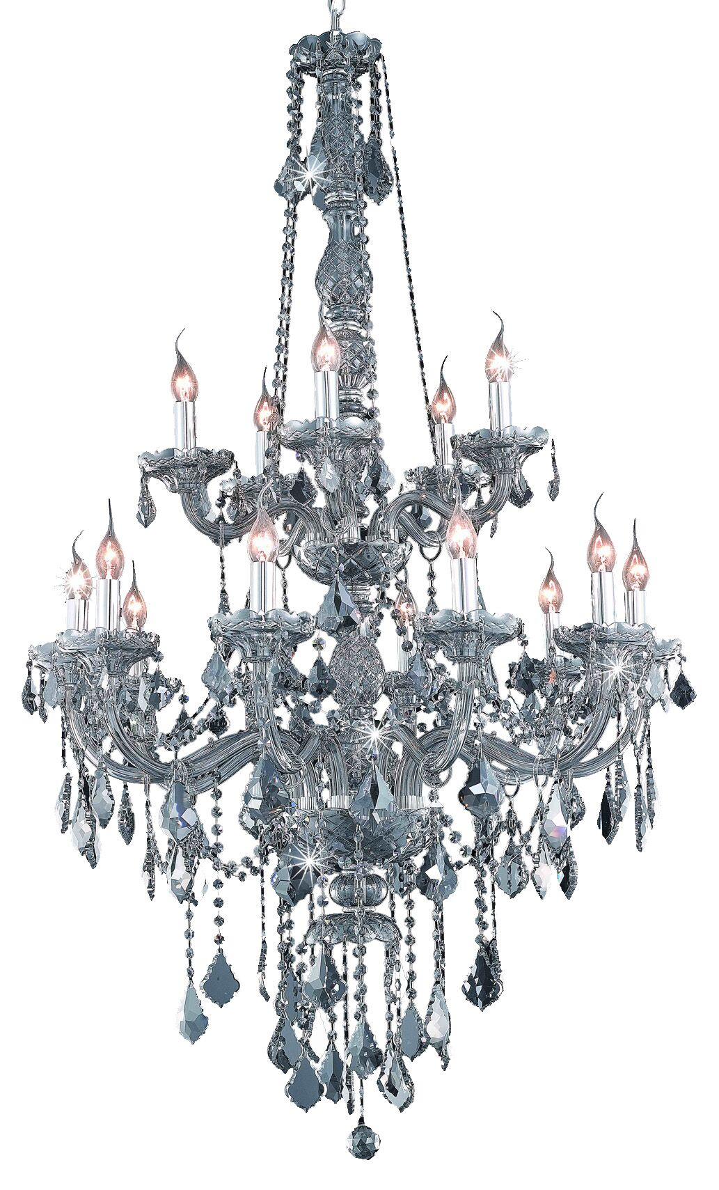 Petties 15-Light Candle Style Chandelier Crystal Grade: Egyptian, Color: Silver
