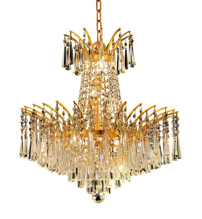 Phyllida 8-Light Chandelier Finish: Gold, Crystal Trim: Strass Swarovski