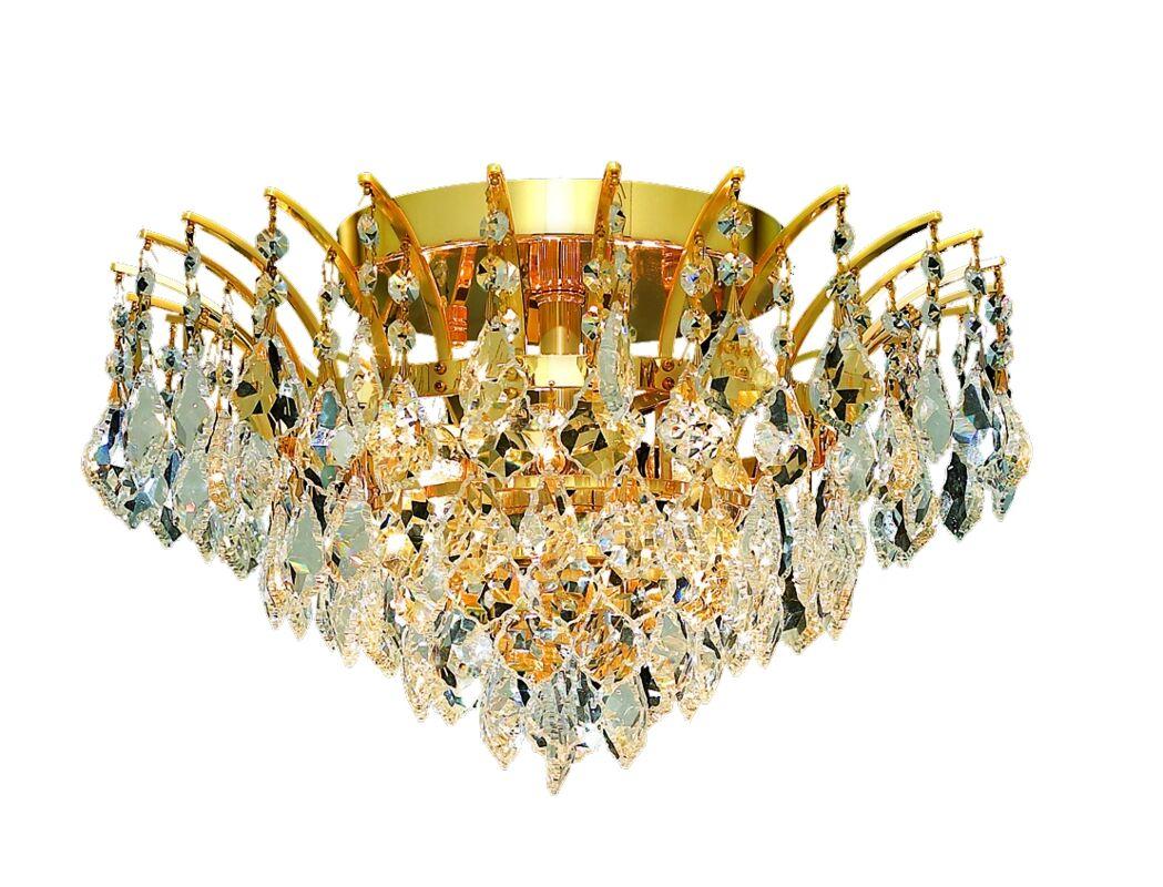 Phyllida 6-Light Semi Flush Mount Finish: Gold, Crystal Grade: Royal Cut