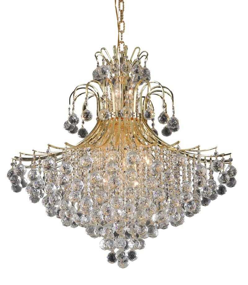 McAllen 15-Light Crystal Chandelier Finish: Gold, Crystal: Spectra Swarovski