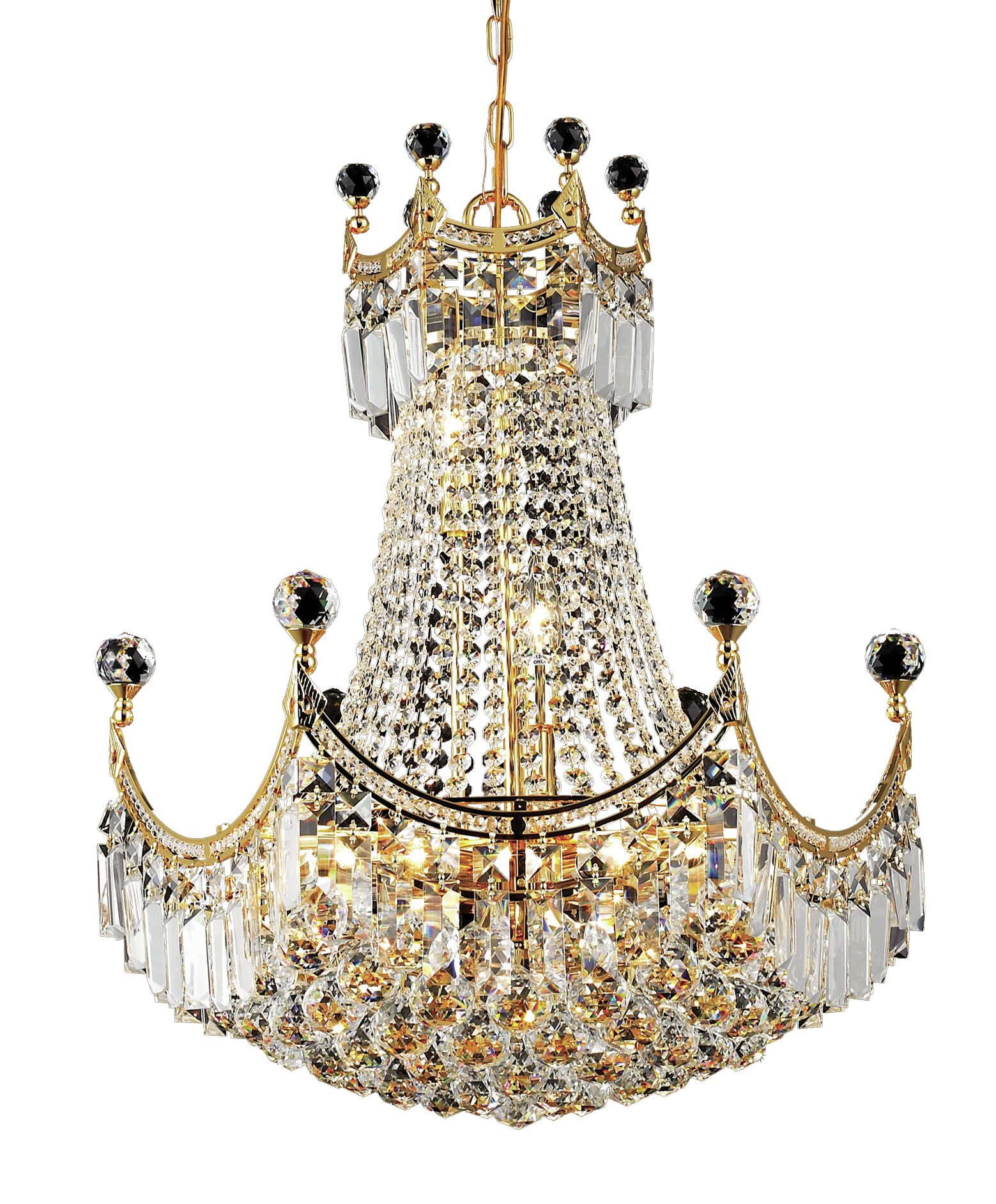 Kasha 9-Light Chandelier Finish: Gold, Crystal: Royal Cut