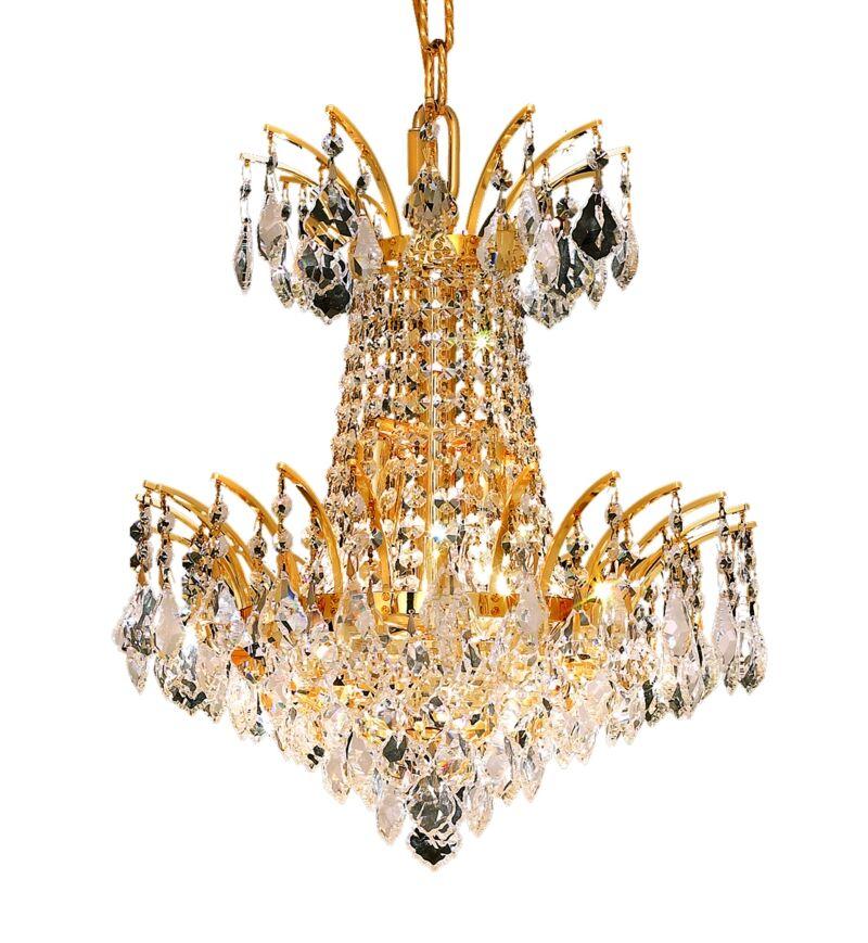 Phyllida 4-Light Empire Chandelier Finish: Gold, Crystal Trim: Royal Cut
