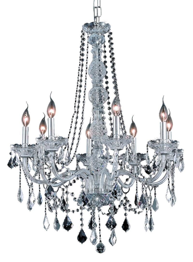 Petties 8-Light Candle Style Chandelier Color: Chrome, Crystal Grade: Swarovski Spectra