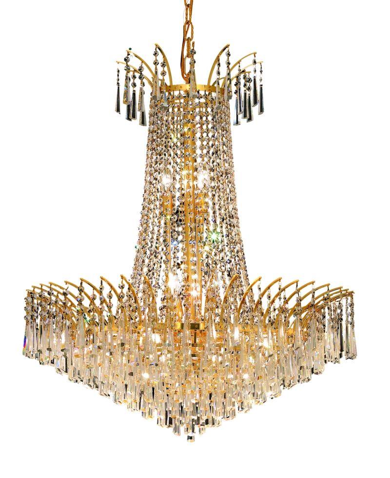 Phyllida 16-Light Chandelier Finish: Gold, Crystal Trim: Royal Cut