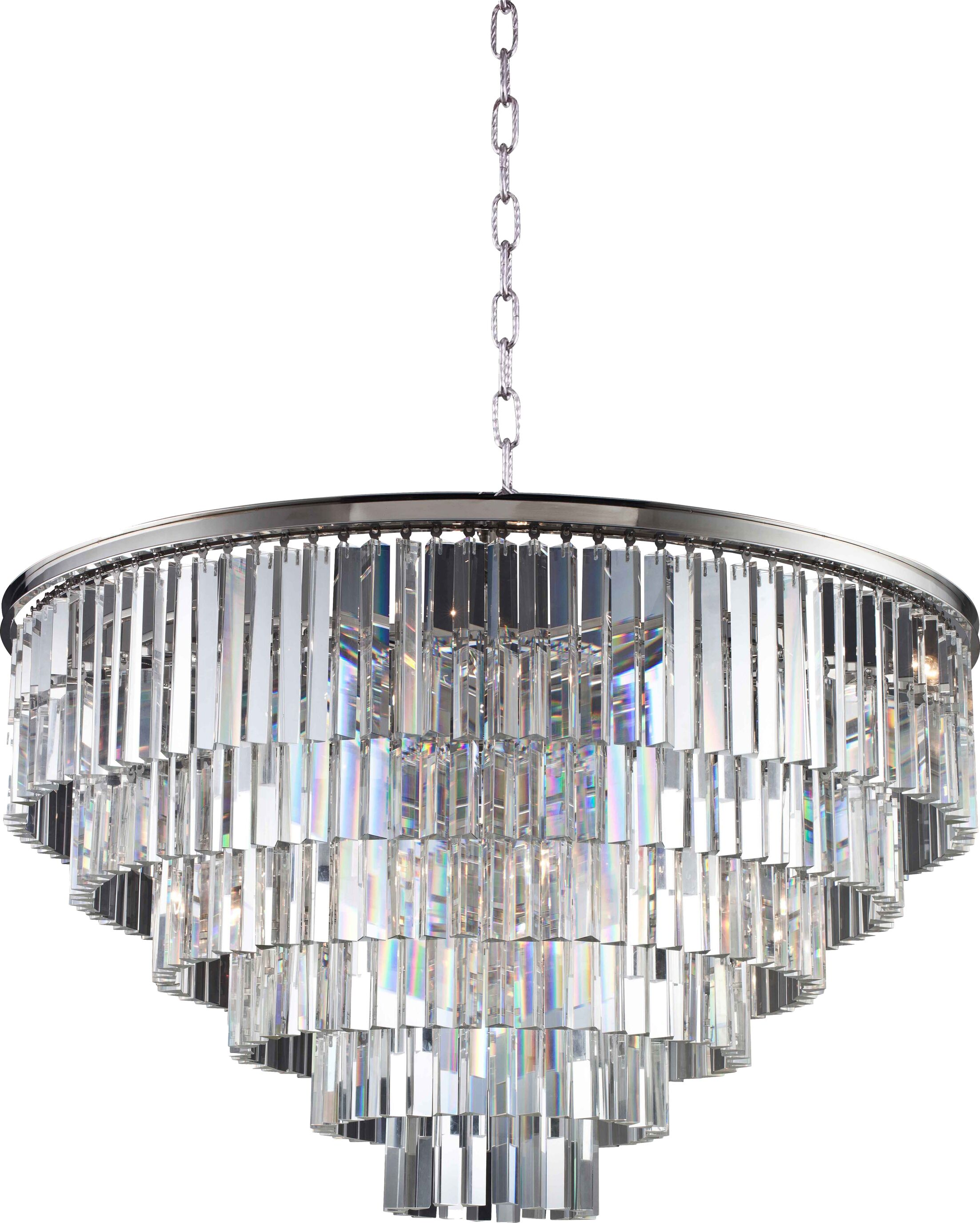 Lavinia 10-Light Crystal Chandelier Crystal: Silver Shade (Grey), Finish: Mocha Brown