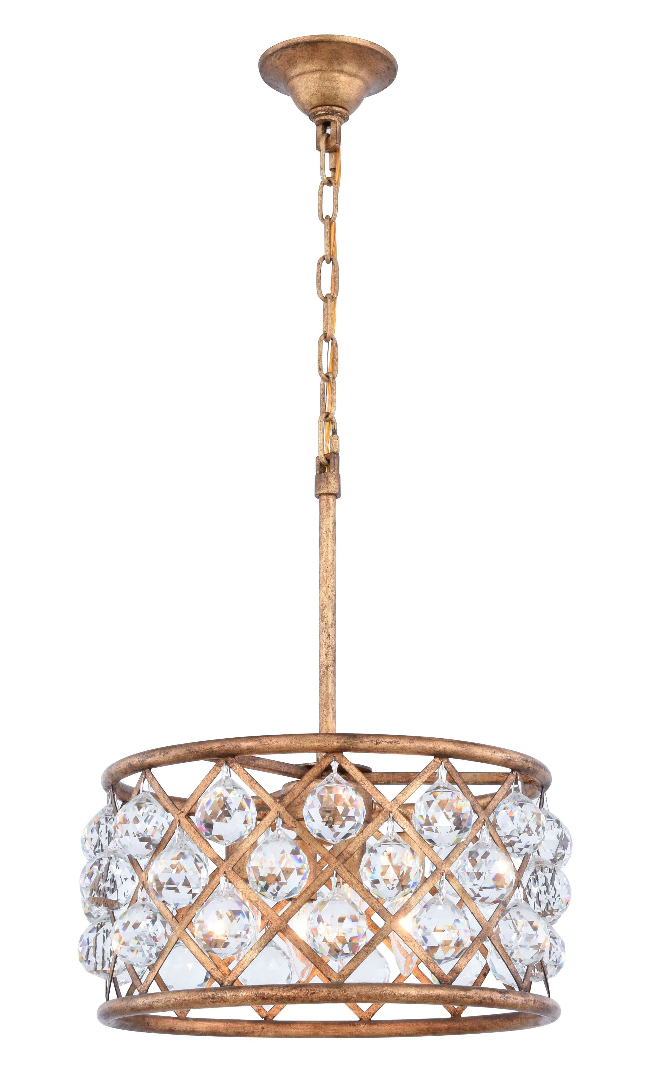 Morion 4-Light Pendant Crystal Color: Clear