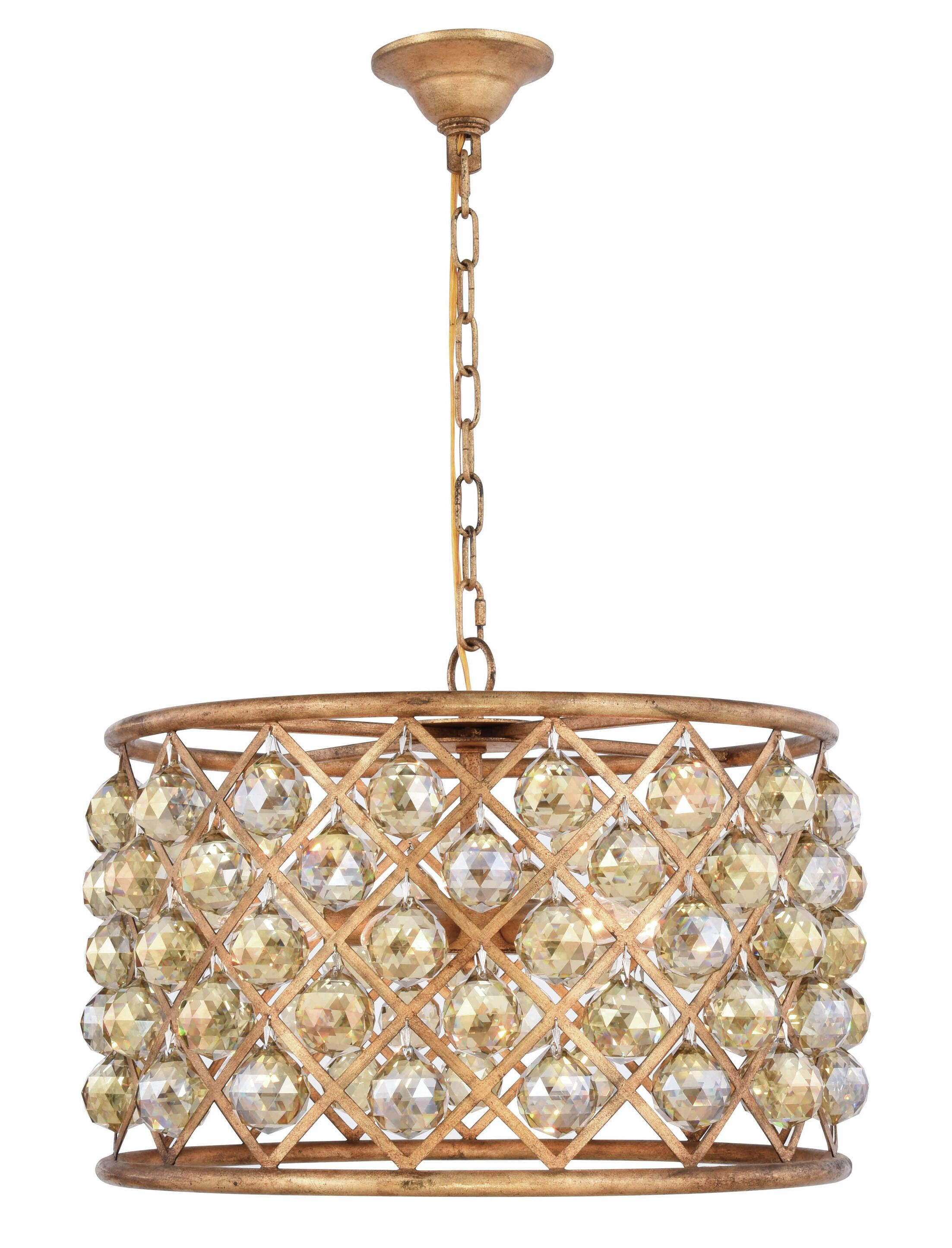 Morion 6-Light Pendant Crystal Color: Smoky