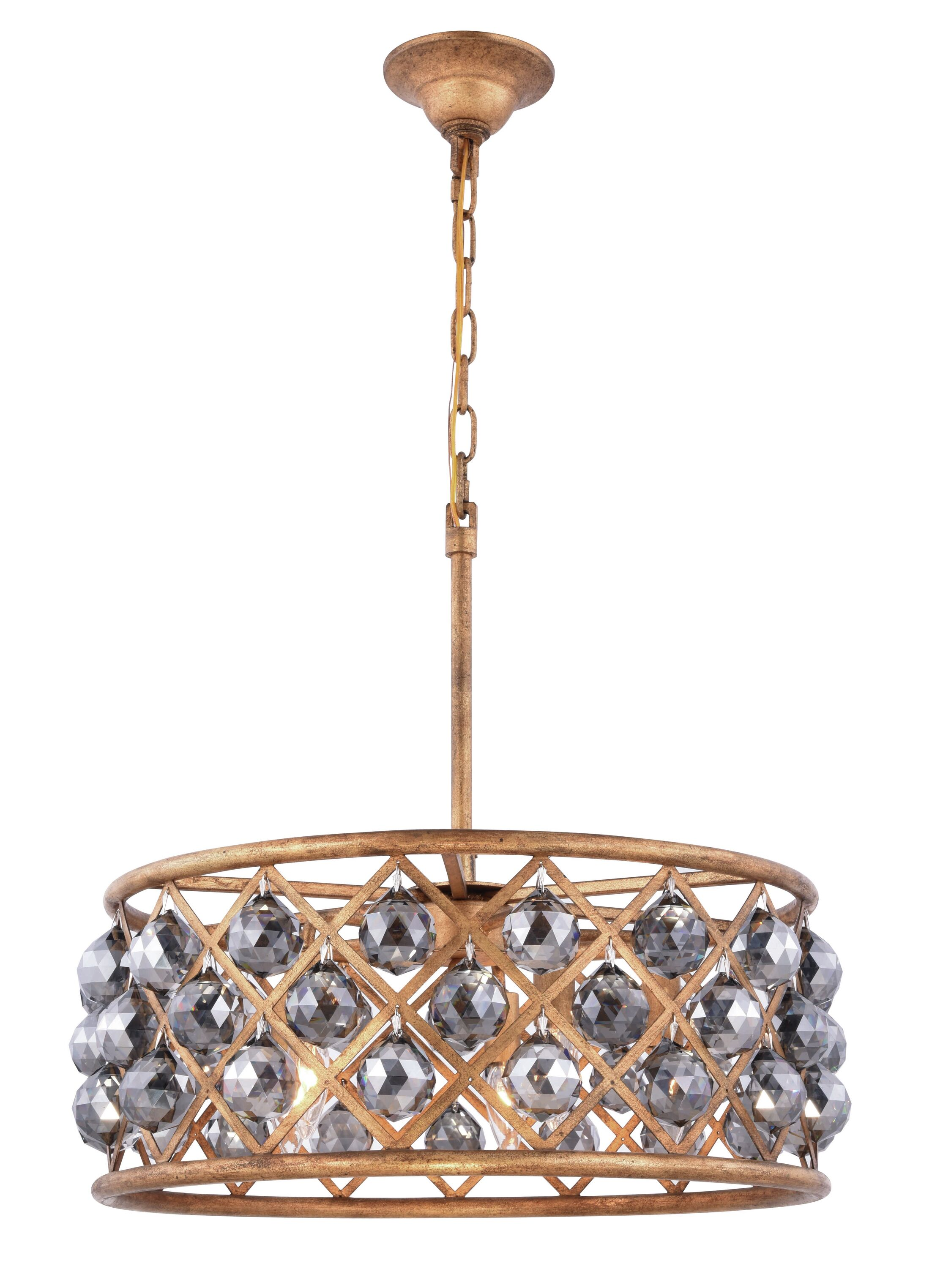 Morion 5-Light Pendant Crystal Color: Gray