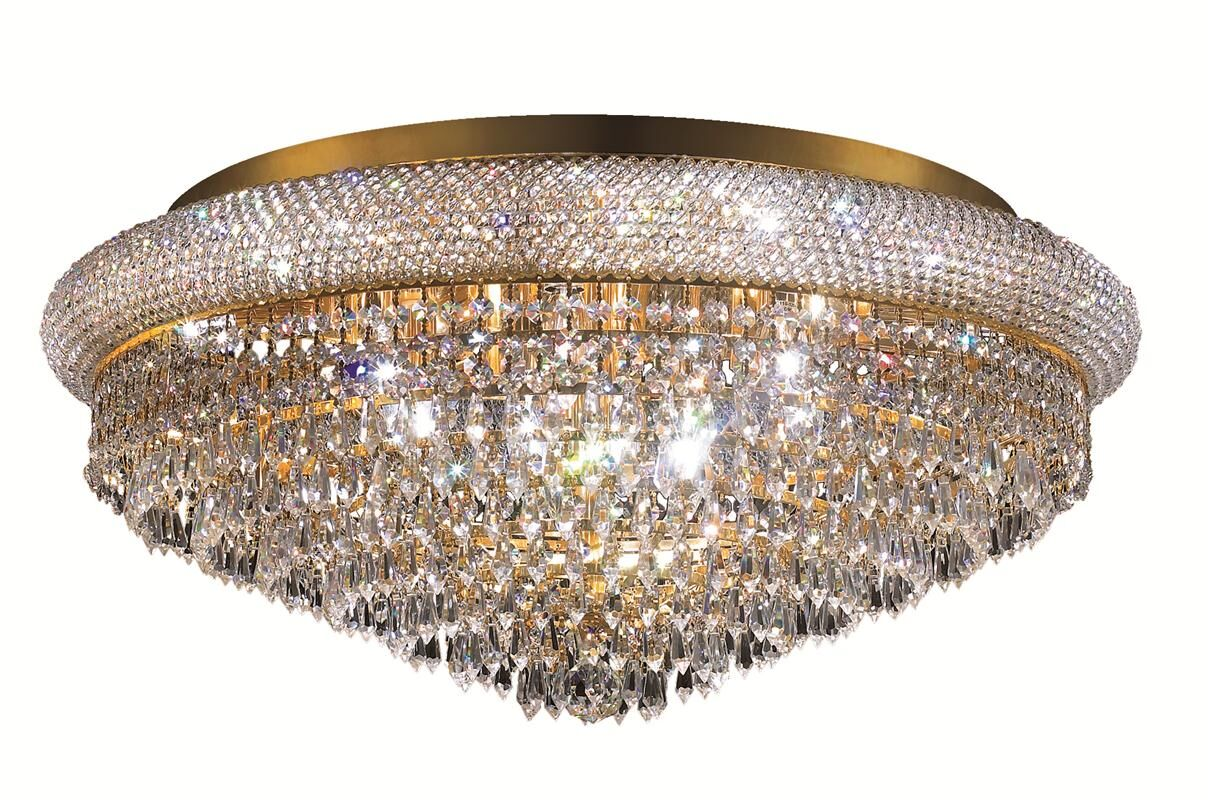 Jessenia Contemporary 15-Light Crystal Shade Flush Mount Finish: Chrome, Crystal Grade: Spectra Swarovski