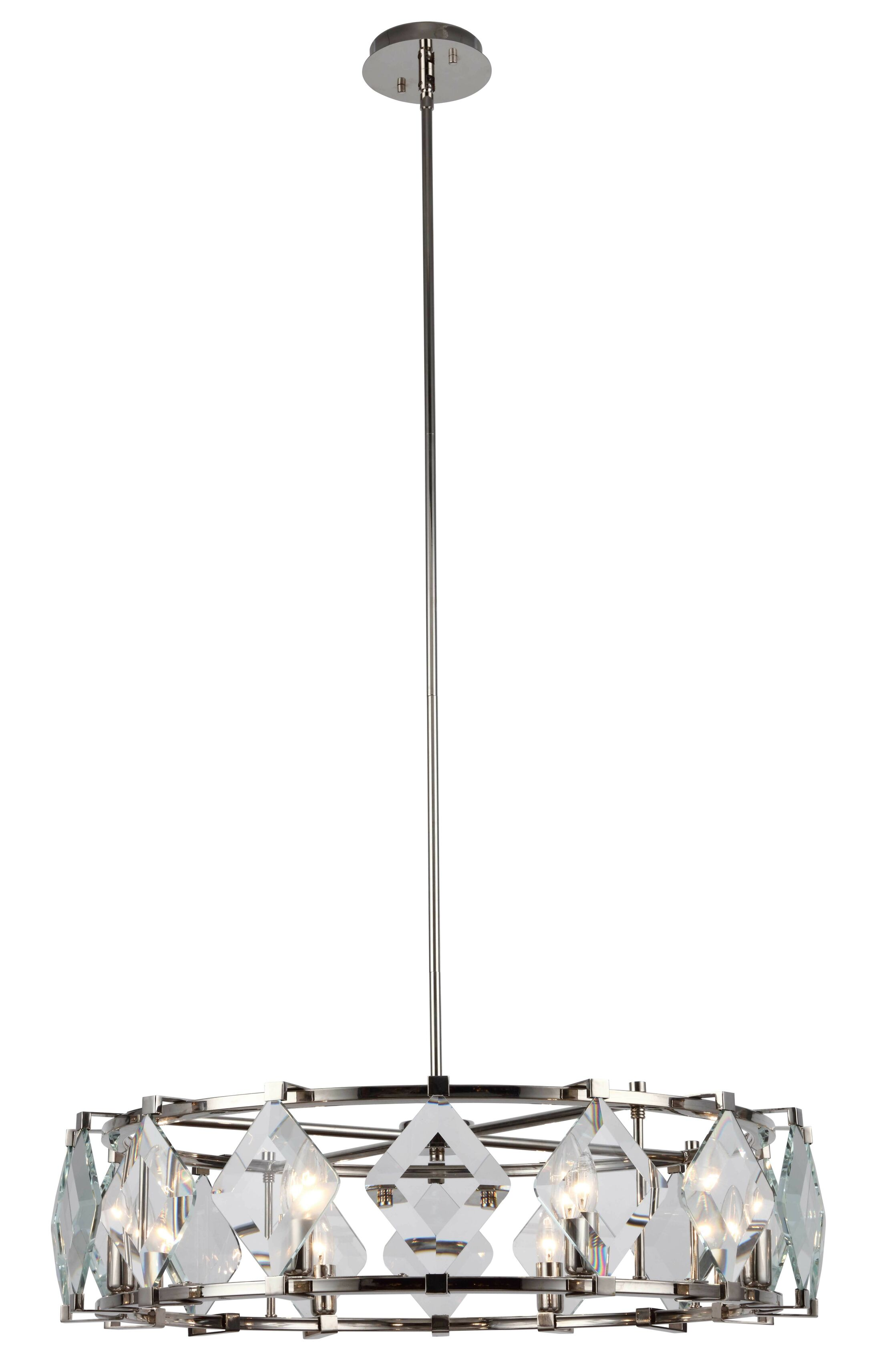 Everalda�8-Light Drum Chandelier Finish: Polished Nickel