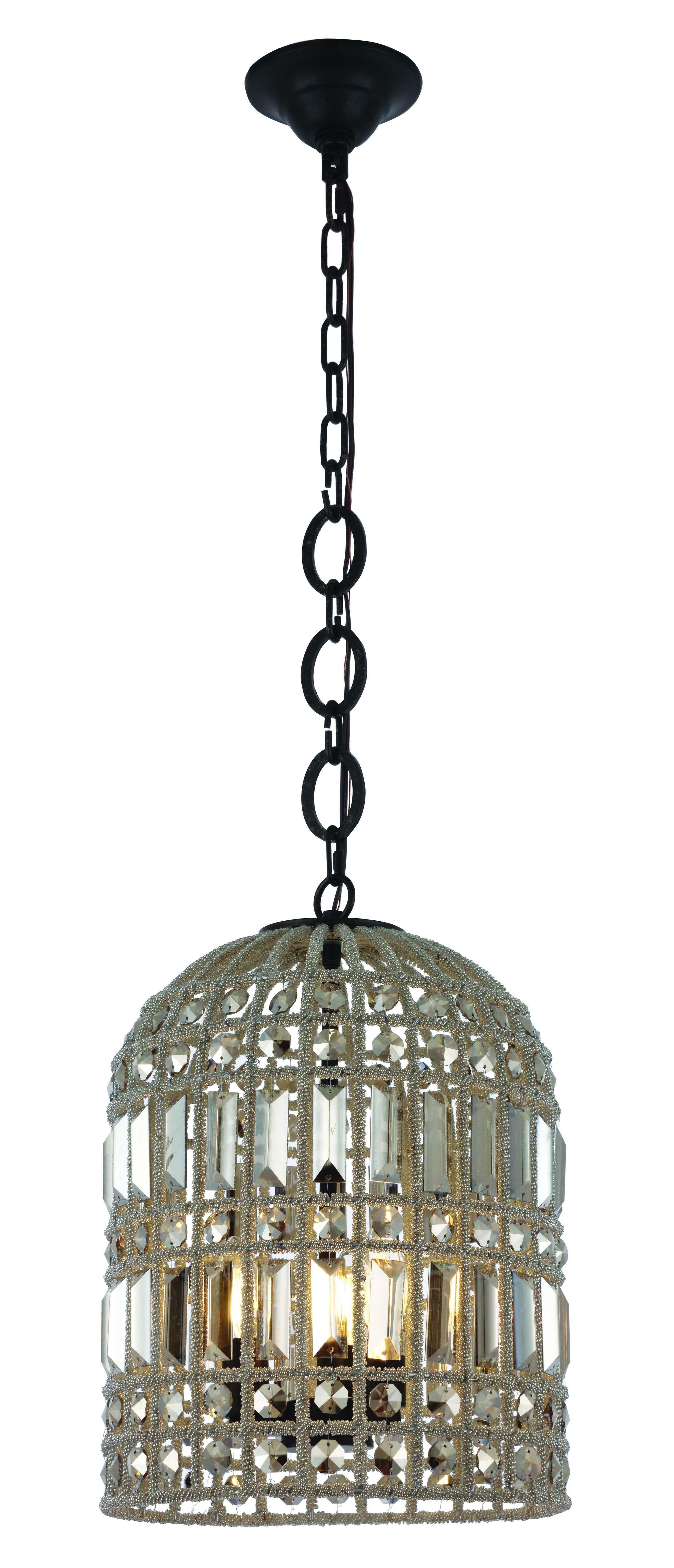 Hayley 3-Light  LED Lantern Pendant Finish: Rustic Dark Bronze
