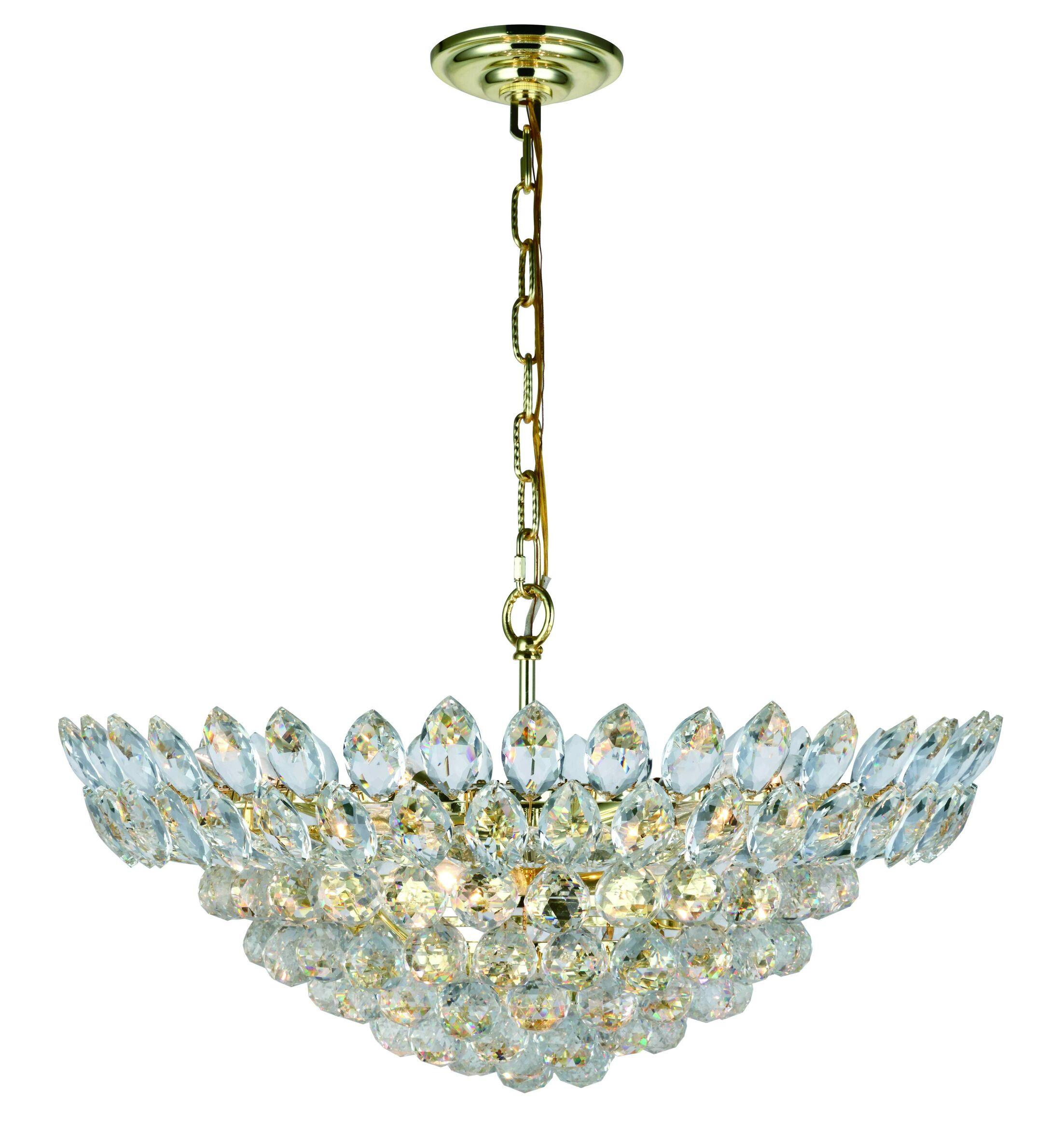 Glendora 11-Light LED Crystal Pendant Finish: Gold