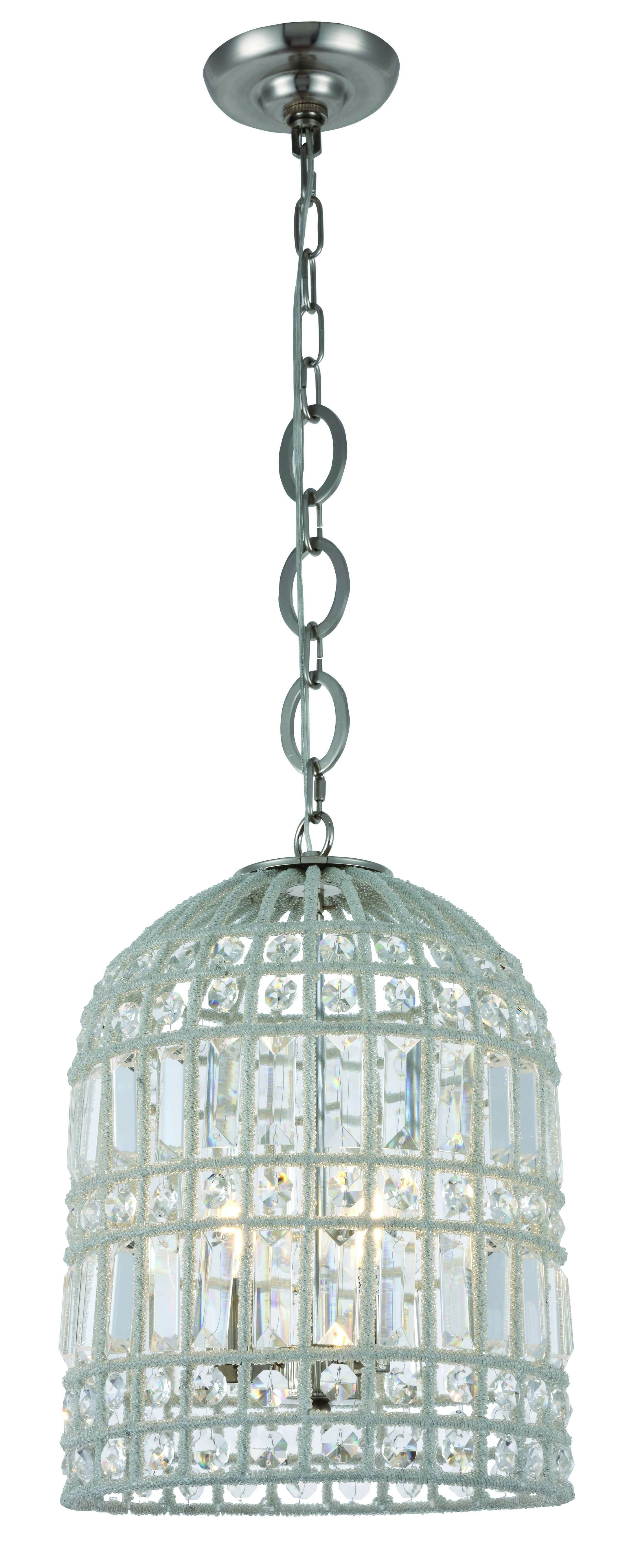 Hayley 3-Light  LED Lantern Pendant Finish: Polished Nickel
