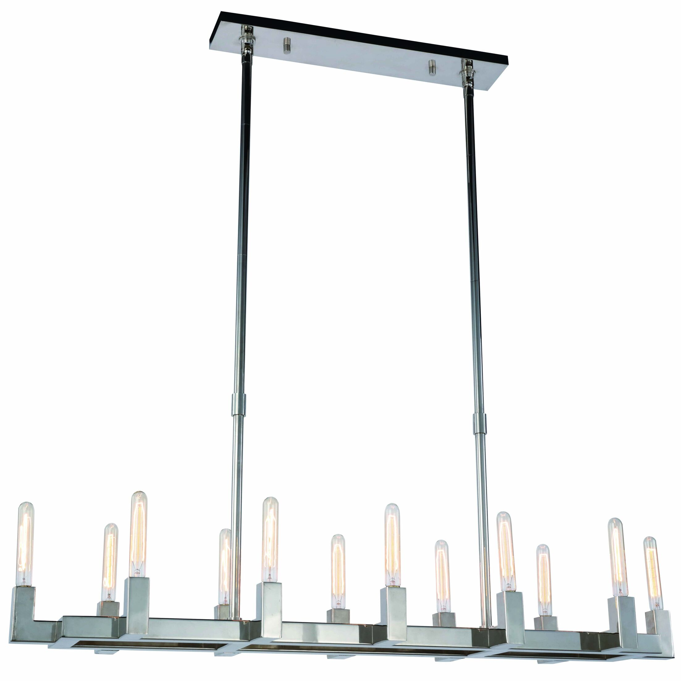 Donnell 12-Light  LED  Pendant Finish: Polished Nickel
