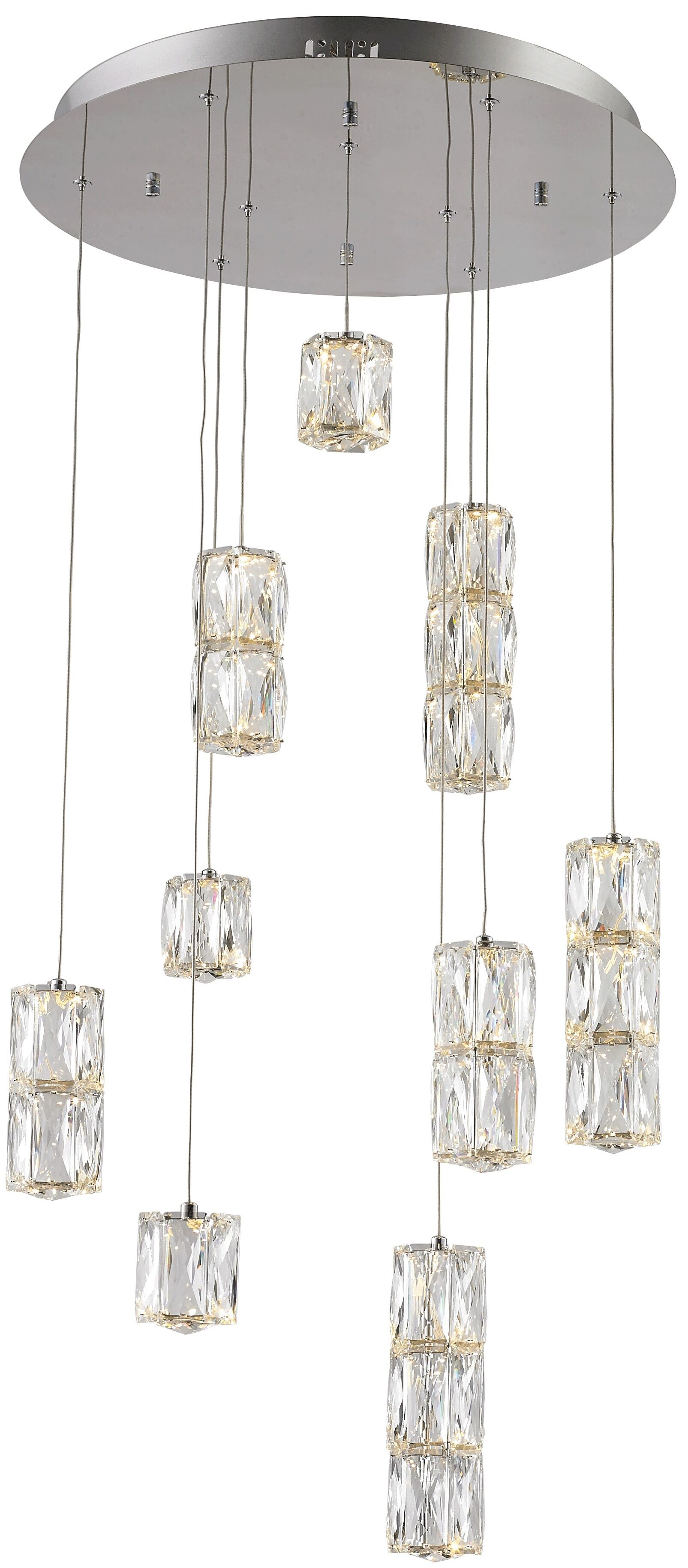 Alycia 9-Light  LED Cluster Pendant