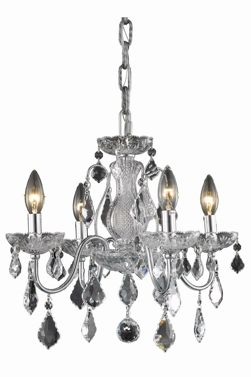 Thao 4-Light Candle Style Chandelier Finish: Chrome, Crystal Trim: Spectra Swarovski