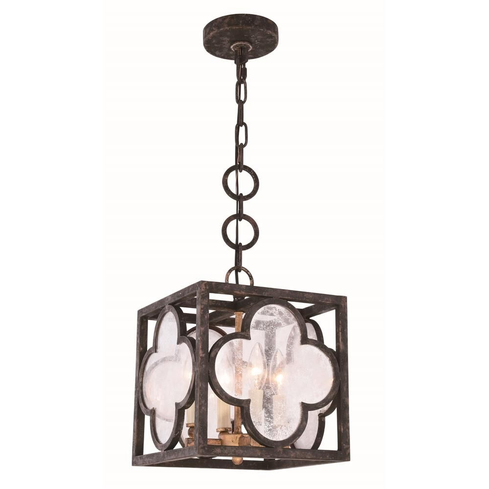 Angelo Transitional 4-Light Square/Rectangle Pendant Finish: Aged Copper, Size: 24.5