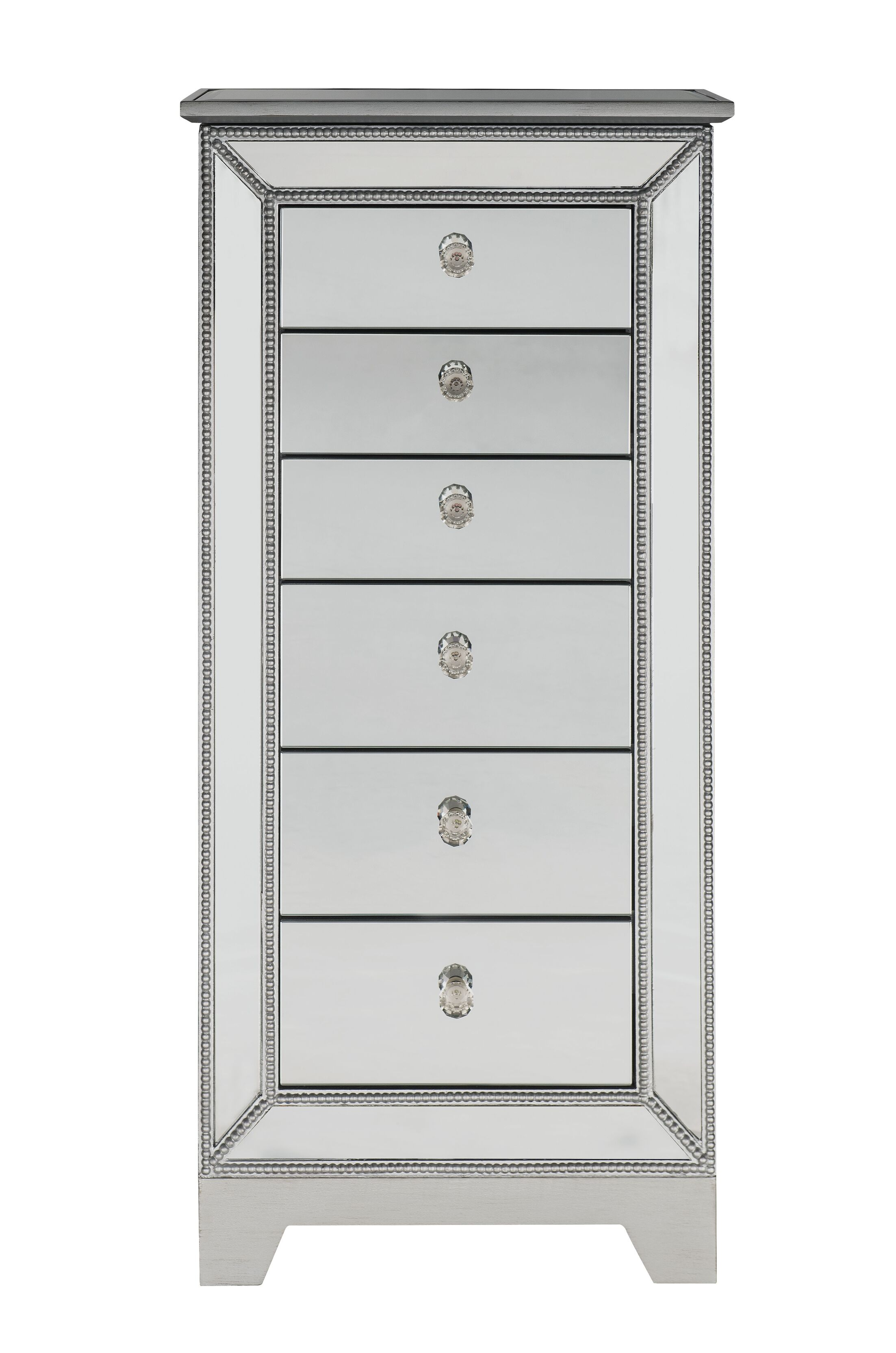 Mariaella Free Standing Jewelry Armoire with Mirror