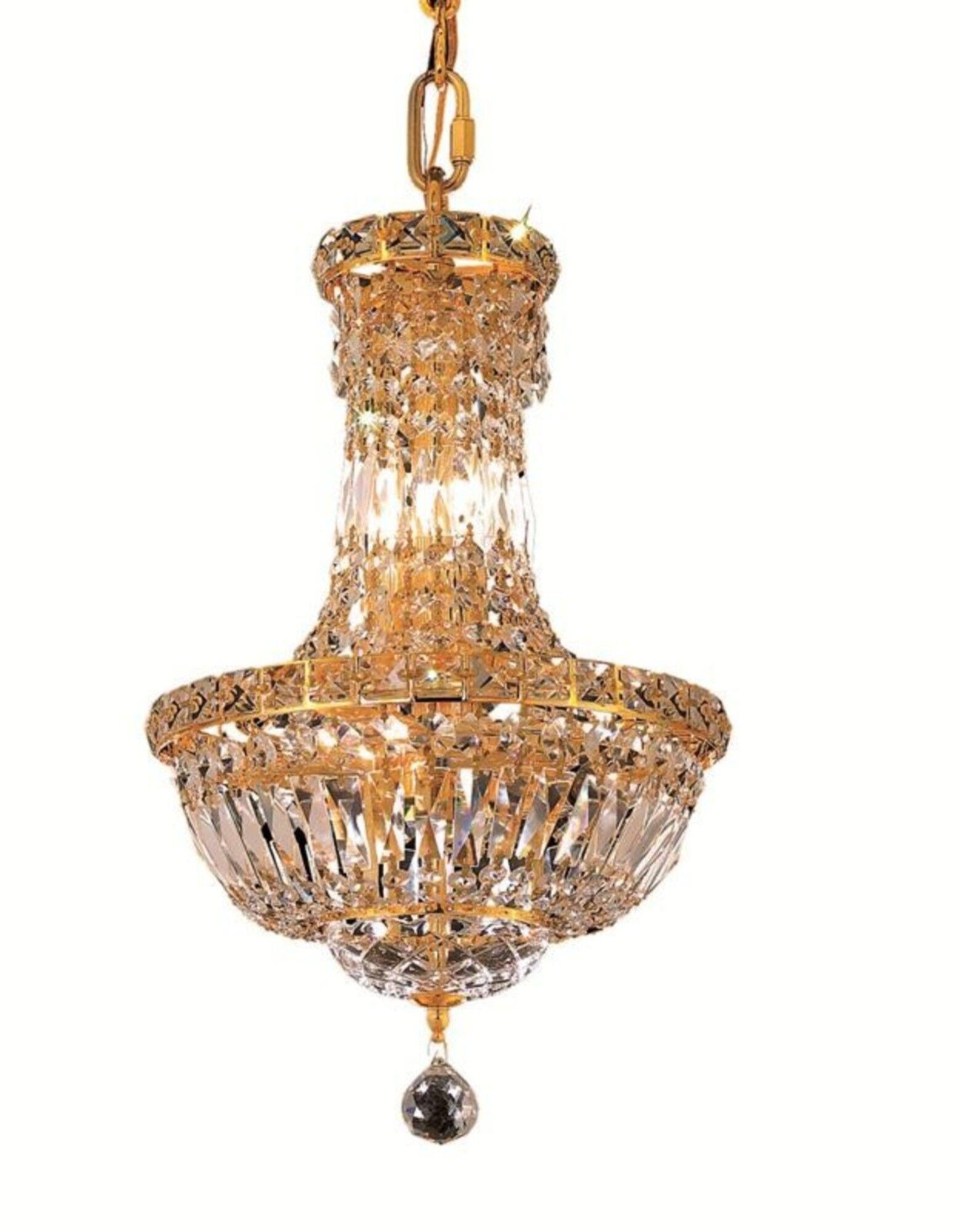Fulham 6-Light Empire Chandelier Finish: Gold, Crystal: Elegant Cut