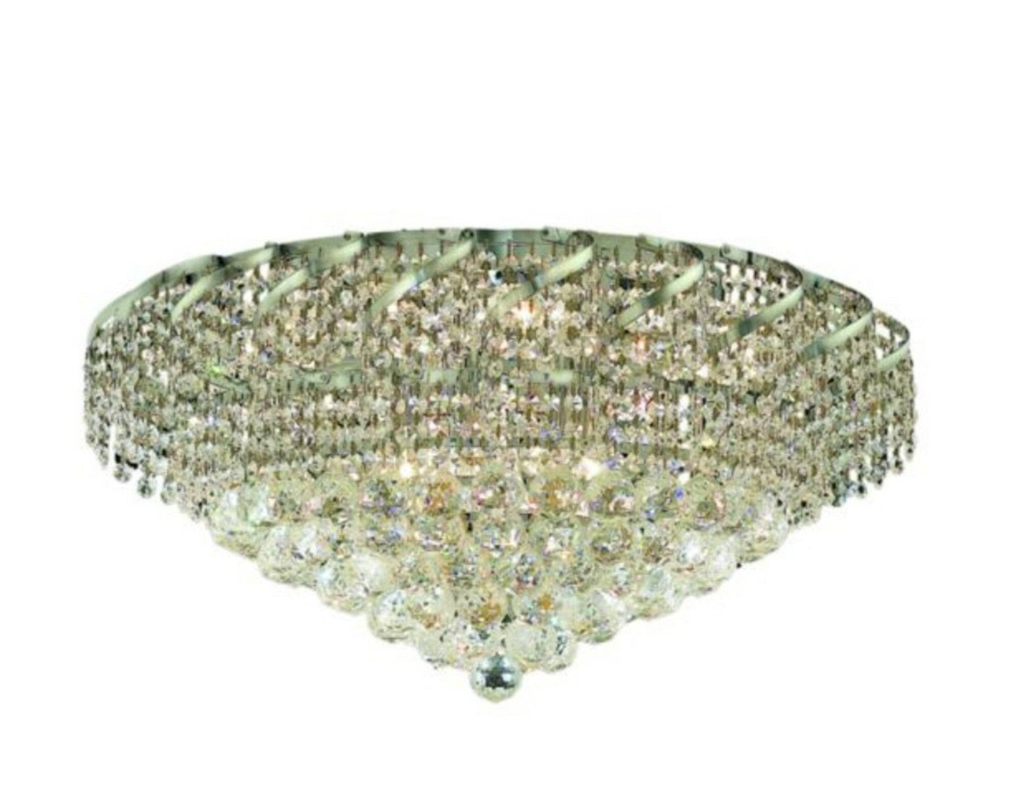 Antione 18-Light Flush Mount Finish: Chrome, Crystal Grade: Strass Swarovski