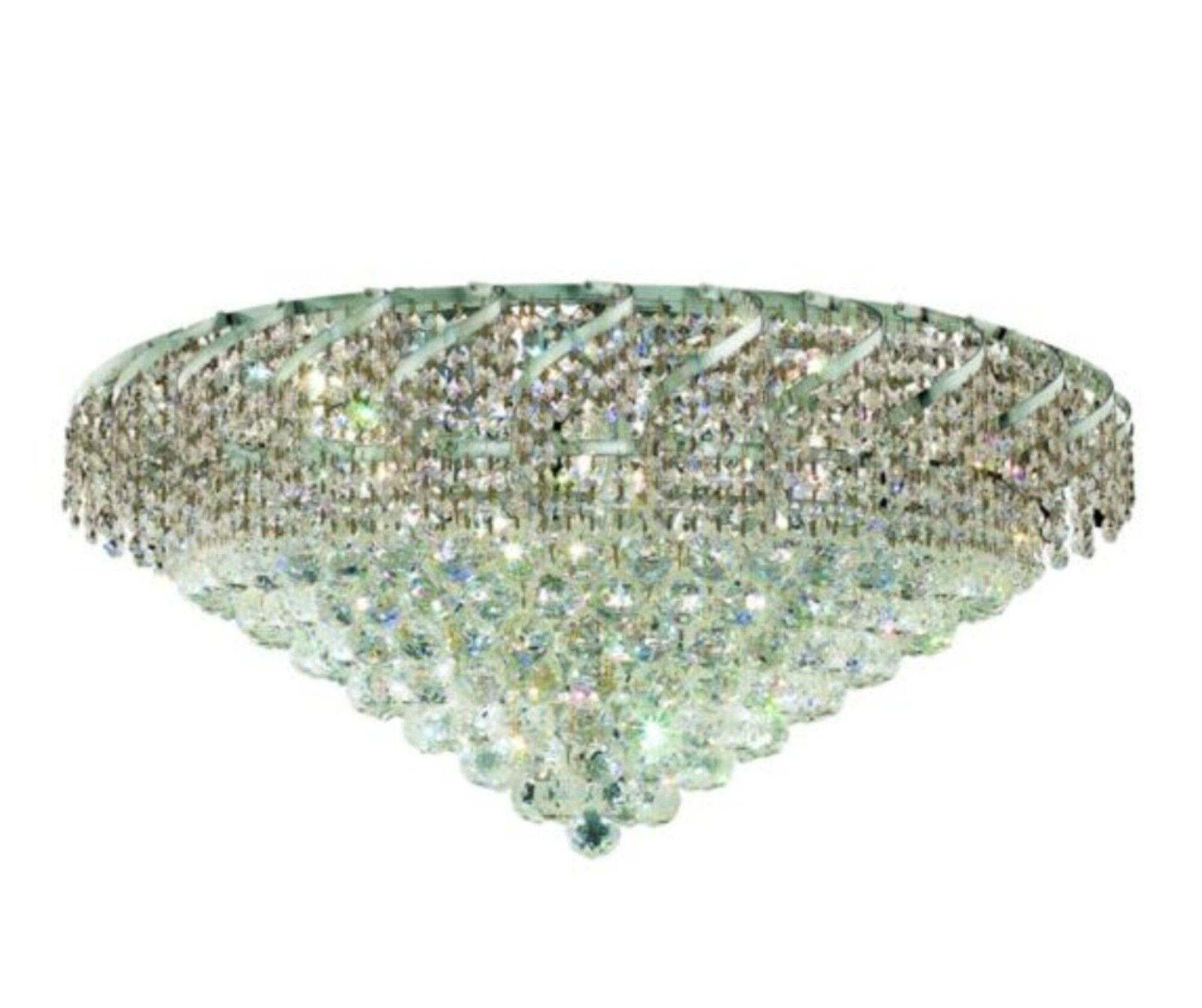 Antione 21-Light Flush Mount Finish: Chrome, Crystal Grade: Spectra Swarovski