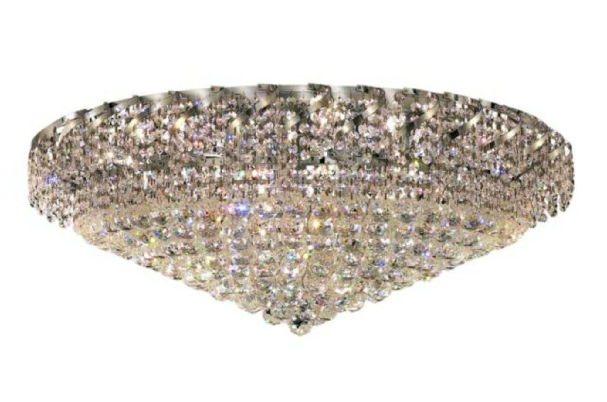 Antione 28-Light Flush Mount Finish: Chrome, Crystal Grade: Royal Cut