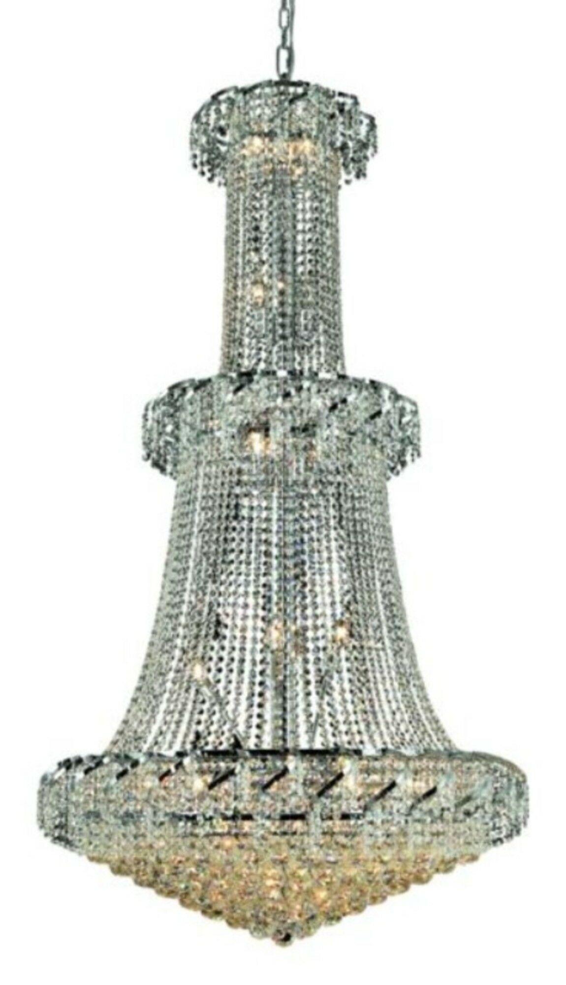 Antione 32-Light Empire Chandelier Finish: Chrome, Crystal: Elegant Cut