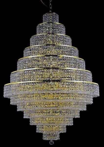 Bratton 38-Light Chandelier Crystal Trim: Royal Cut