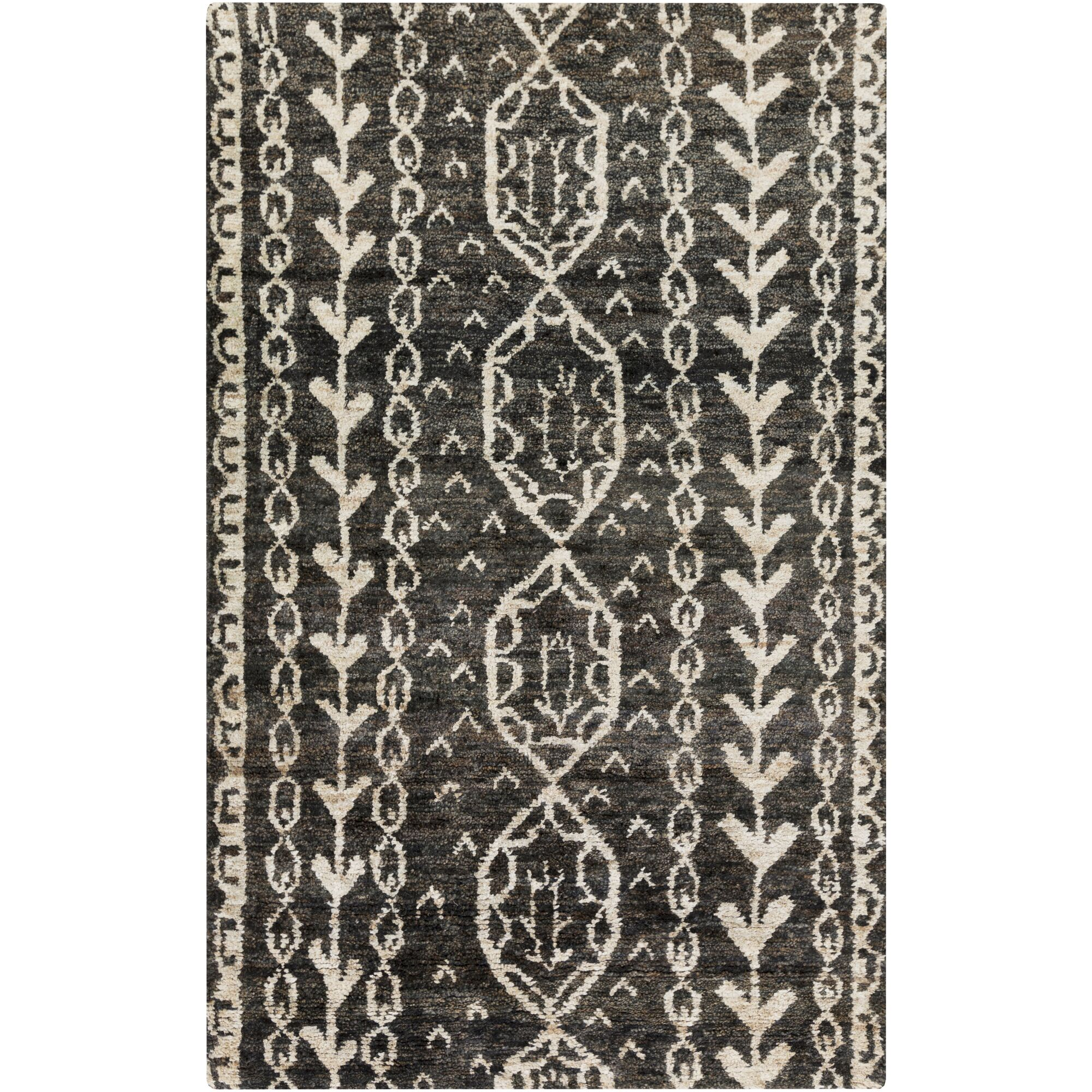 Bjorn Charcoal/Beige Area Rug Rug Size: Rectangle 2' x 3'