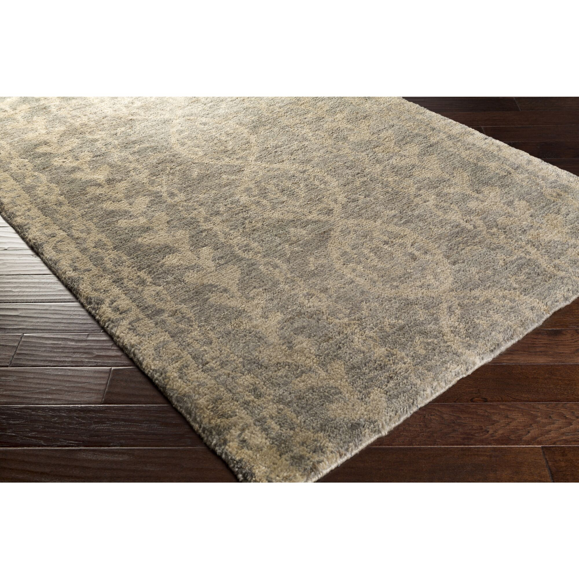 Bjorn Gray/Ivory Area Rug Rug Size: Rectangle 3'3