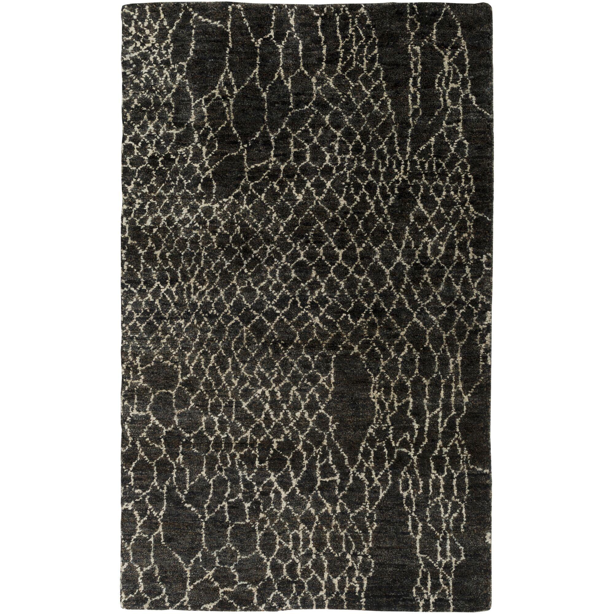 Bjorn Black Area Rug Rug Size: Rectangle 2' x 3'