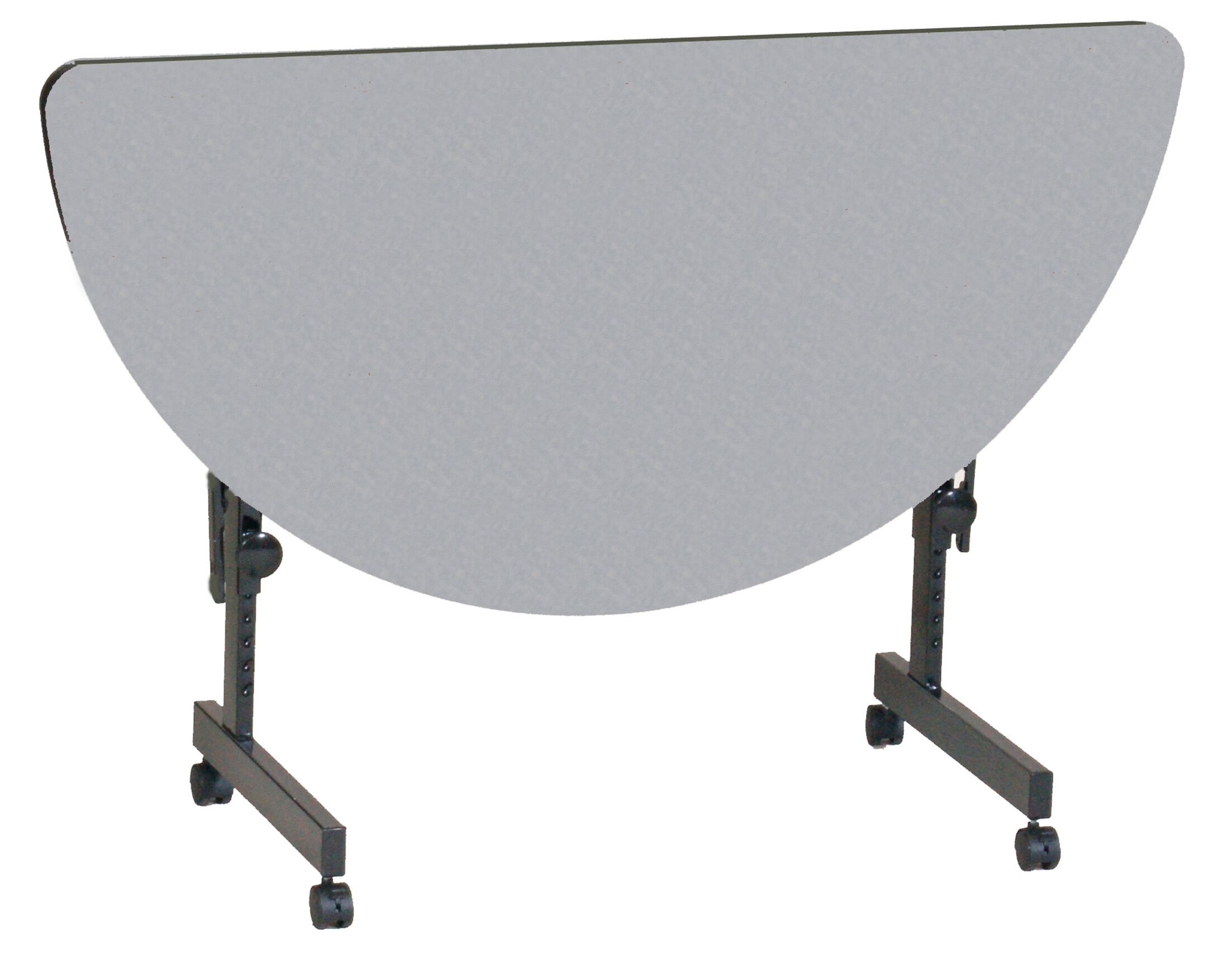 48'' W Flipper Height Adjustable Training Table with Modesty Panel Tabletop Finish: Gray Granite
