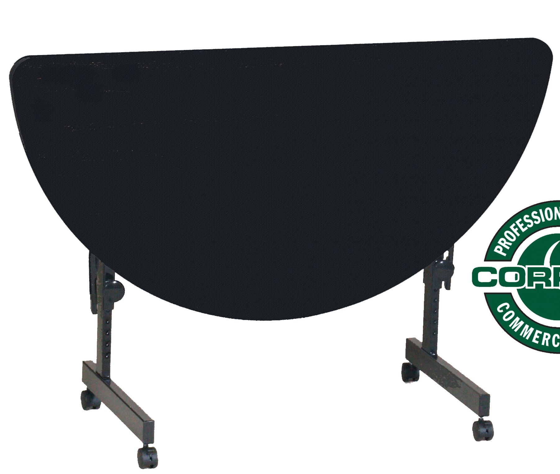 48'' W Flipper Height Adjustable Training Table with Modesty Panel Tabletop Finish: Black Granite