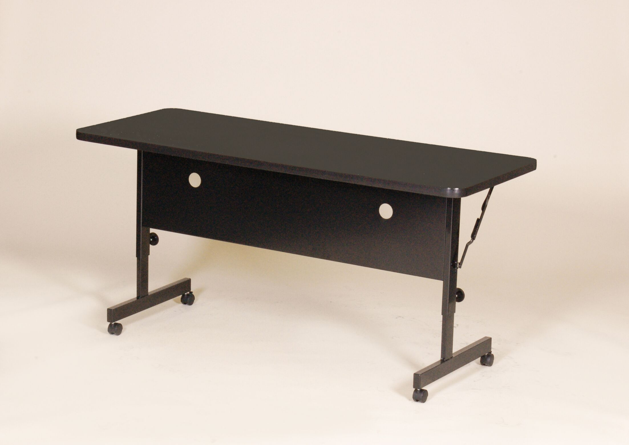 Flipper Training Table with Modesty Panel Tabletop Finish: Cherry, Size: 72