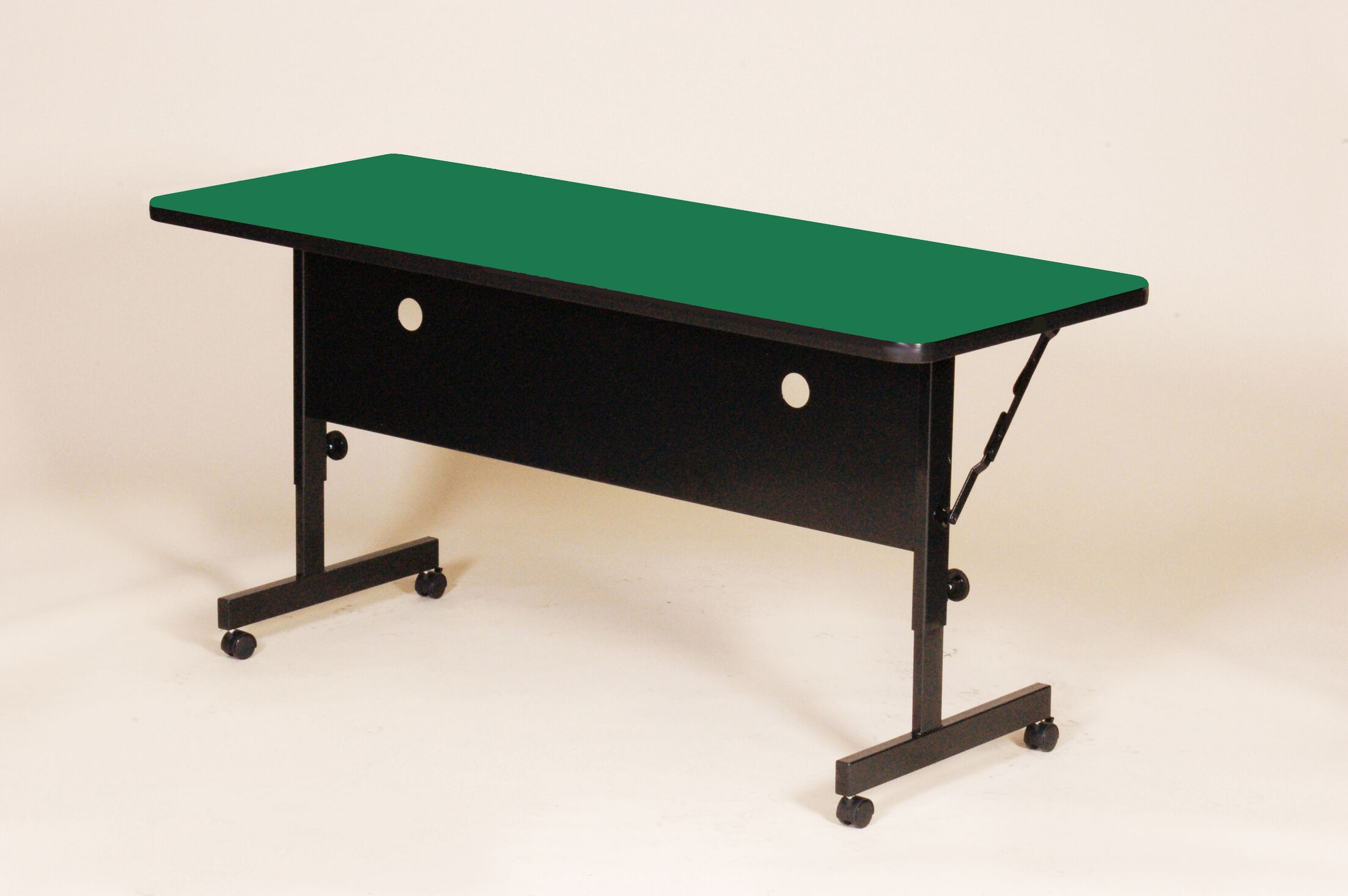 Flipper Training Table with Modesty Panel Tabletop Finish: Green, Size: 60