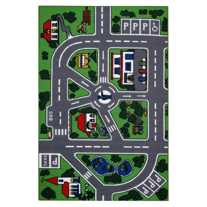 Fun Time Streets Kids Rug Rug Size: 5'3