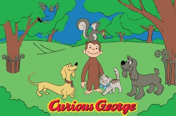 Curious George and Friends Kids Rug Rug Size: 3'3