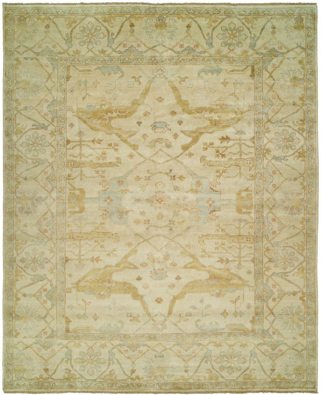 Oushak Hand-Knotted Beige Area Rug Rug Size: Runner 2'6